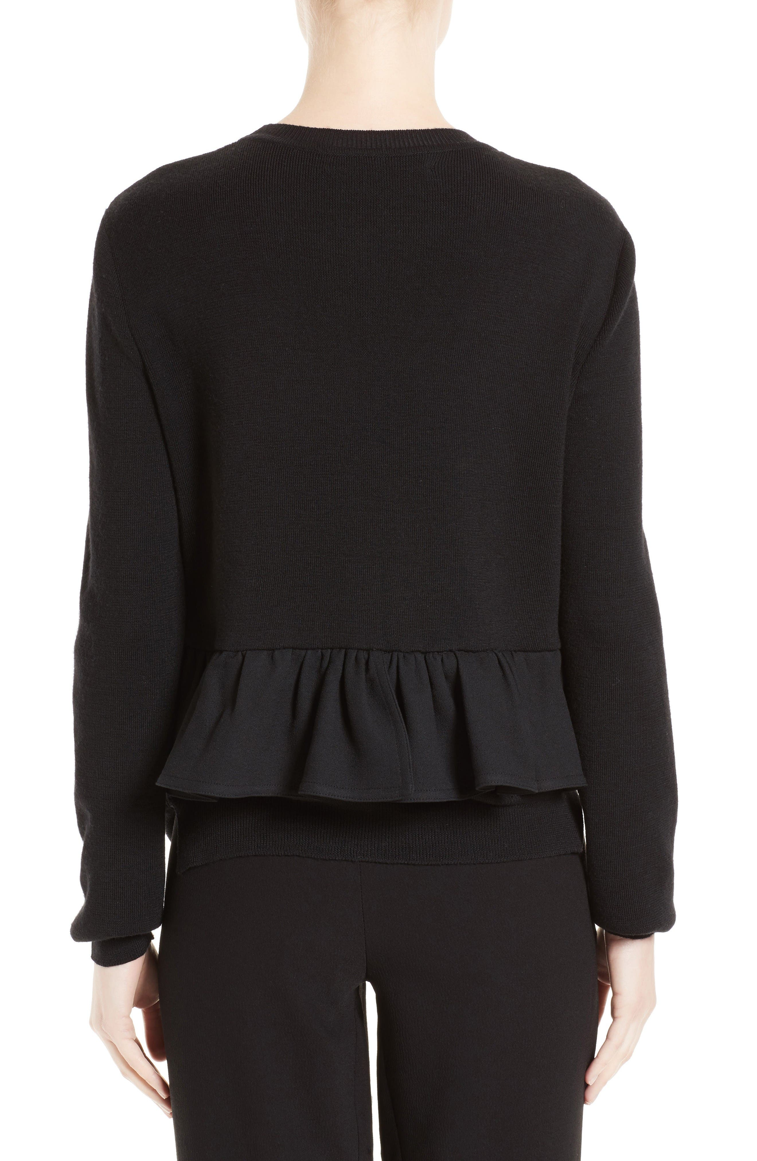 Alternate Image 2  - Marni Ruffle Crewneck Sweater