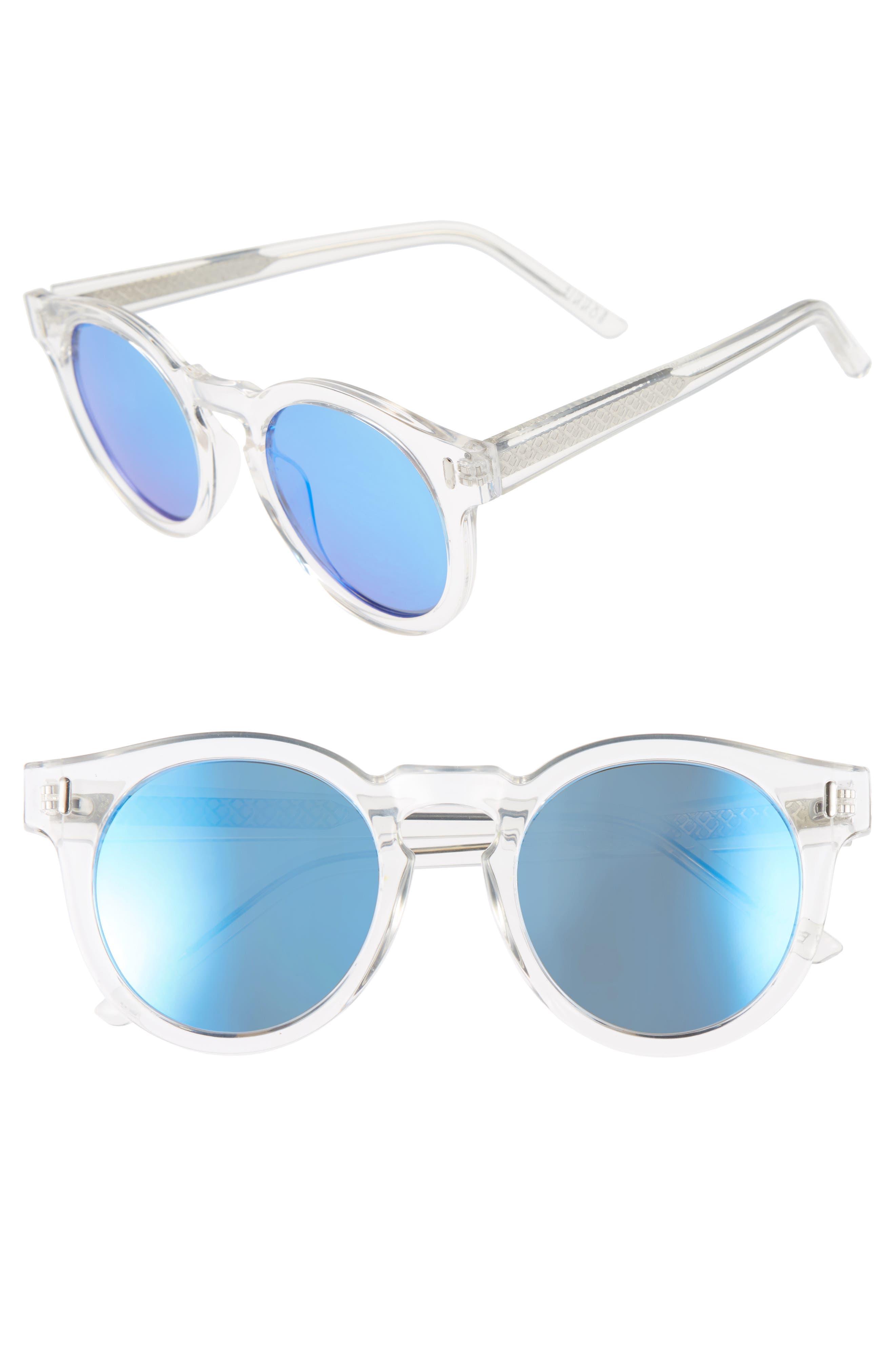 Hill 50mm Polarized Sunglasses,                             Main thumbnail 1, color,                             Ocean Eyes Blue