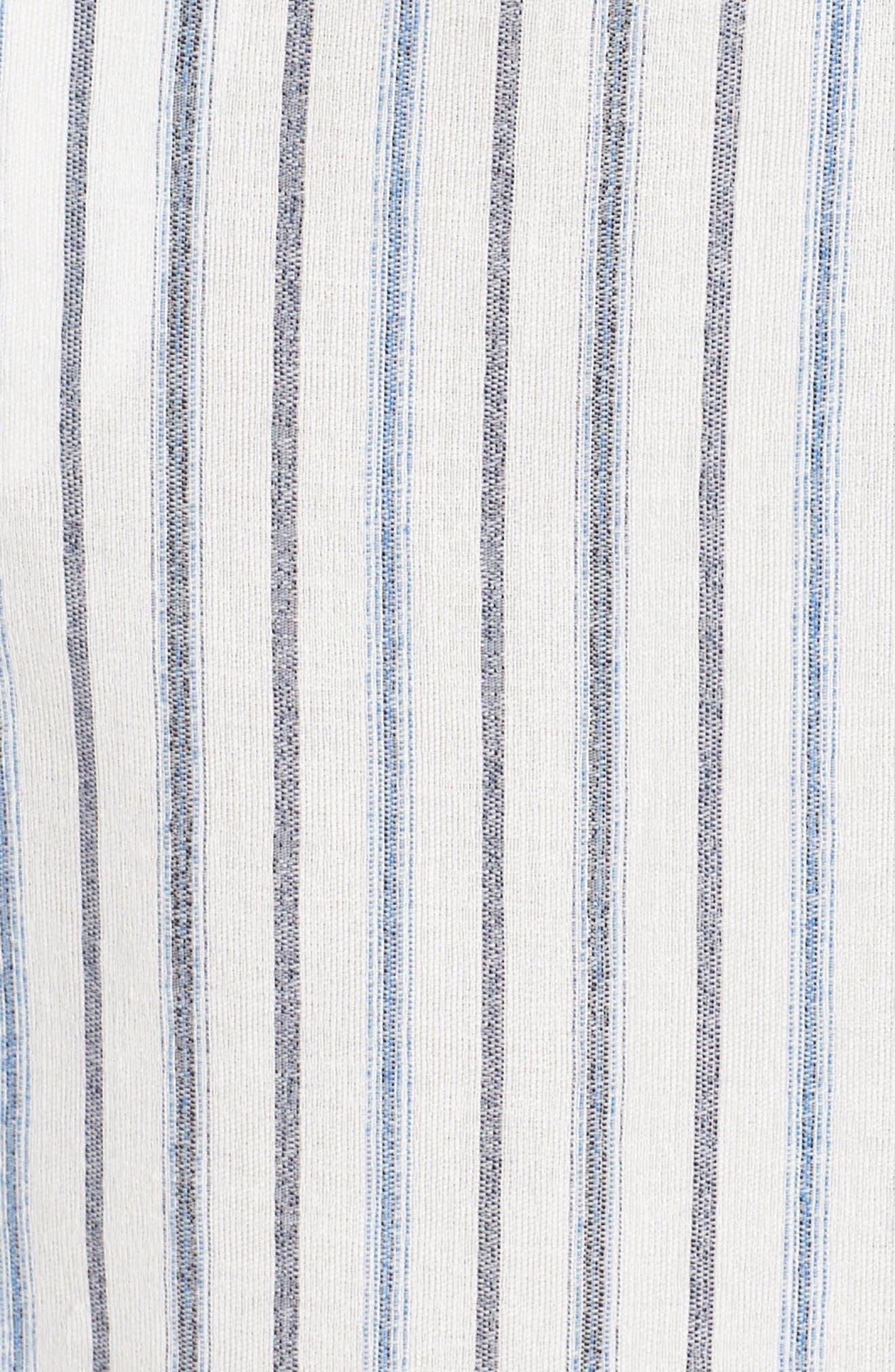 Alexis Off the Shoulder Dress,                             Alternate thumbnail 6, color,                             White Combo