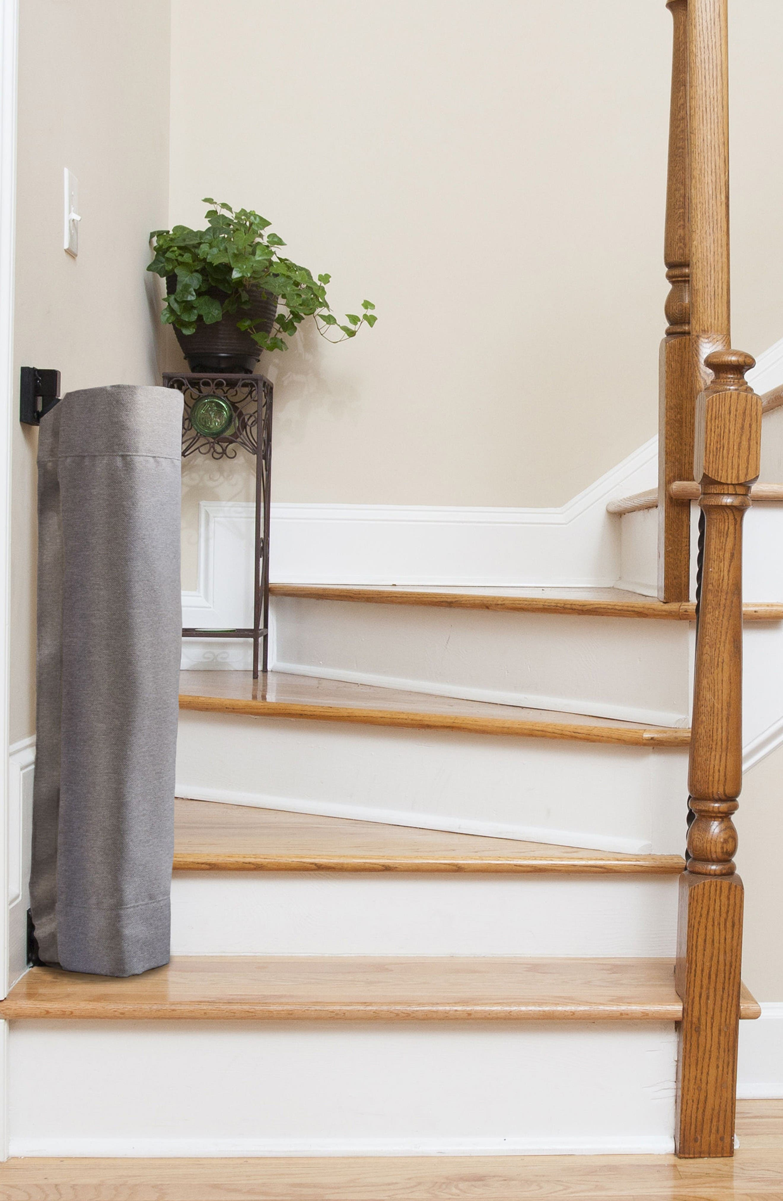 Wall to Banister Safety Gate,                             Alternate thumbnail 3, color,                             Grey