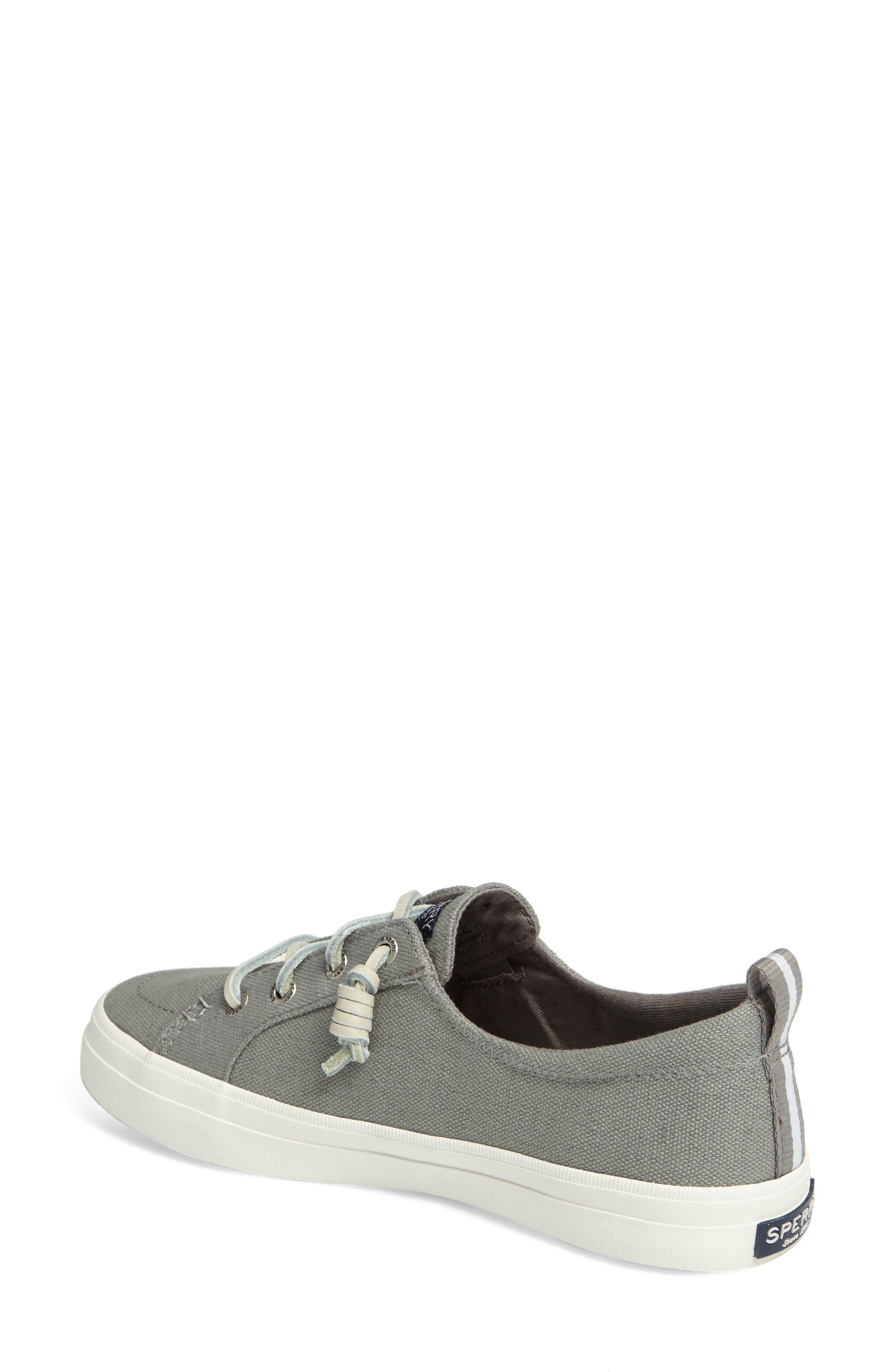 Crest Vibe Sneaker,                             Alternate thumbnail 2, color,                             Grey Canvas