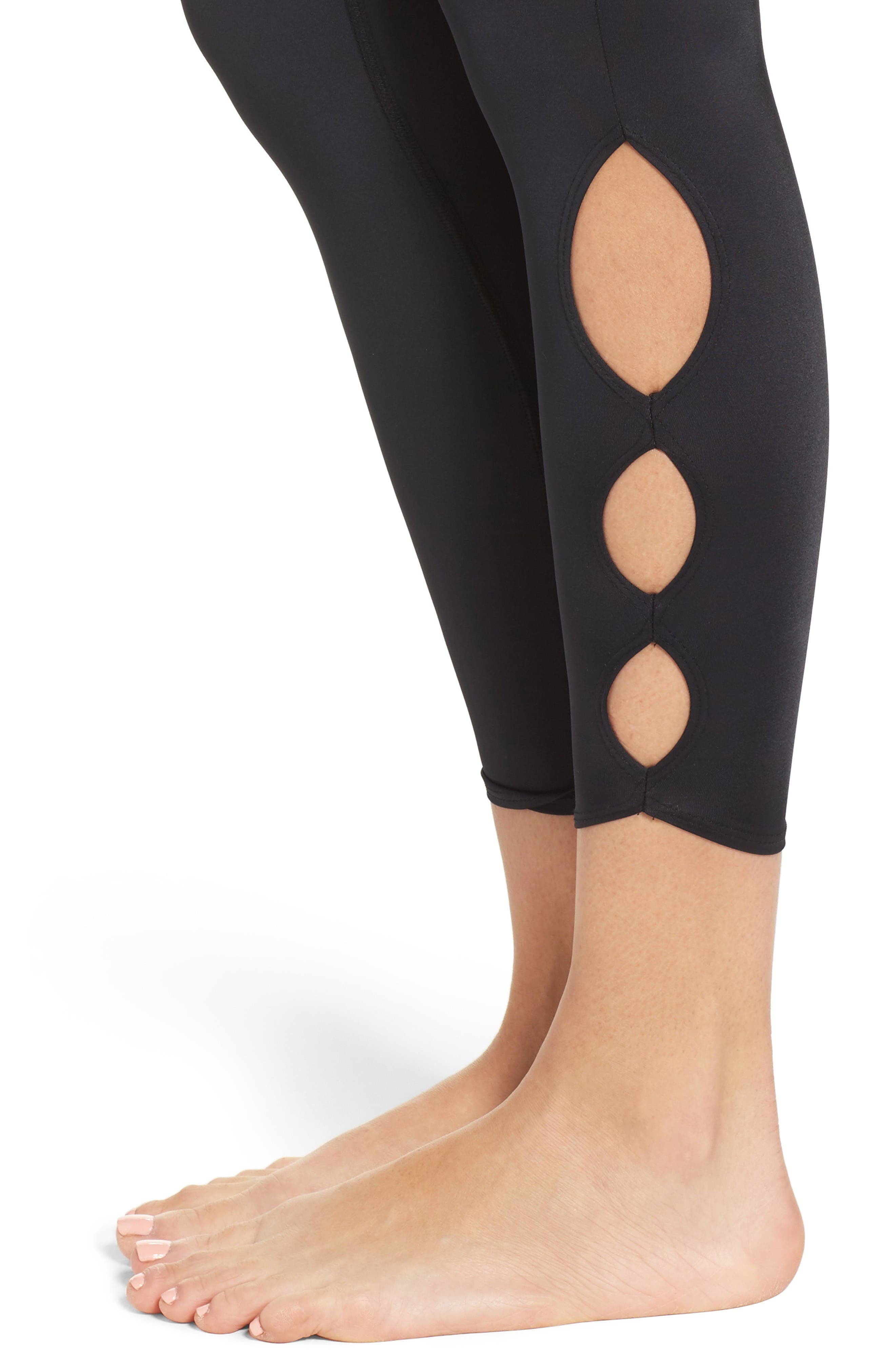 Alternate Image 4  - Beyond Yoga Compression Lux High Waist Half Moon Crop Leggings
