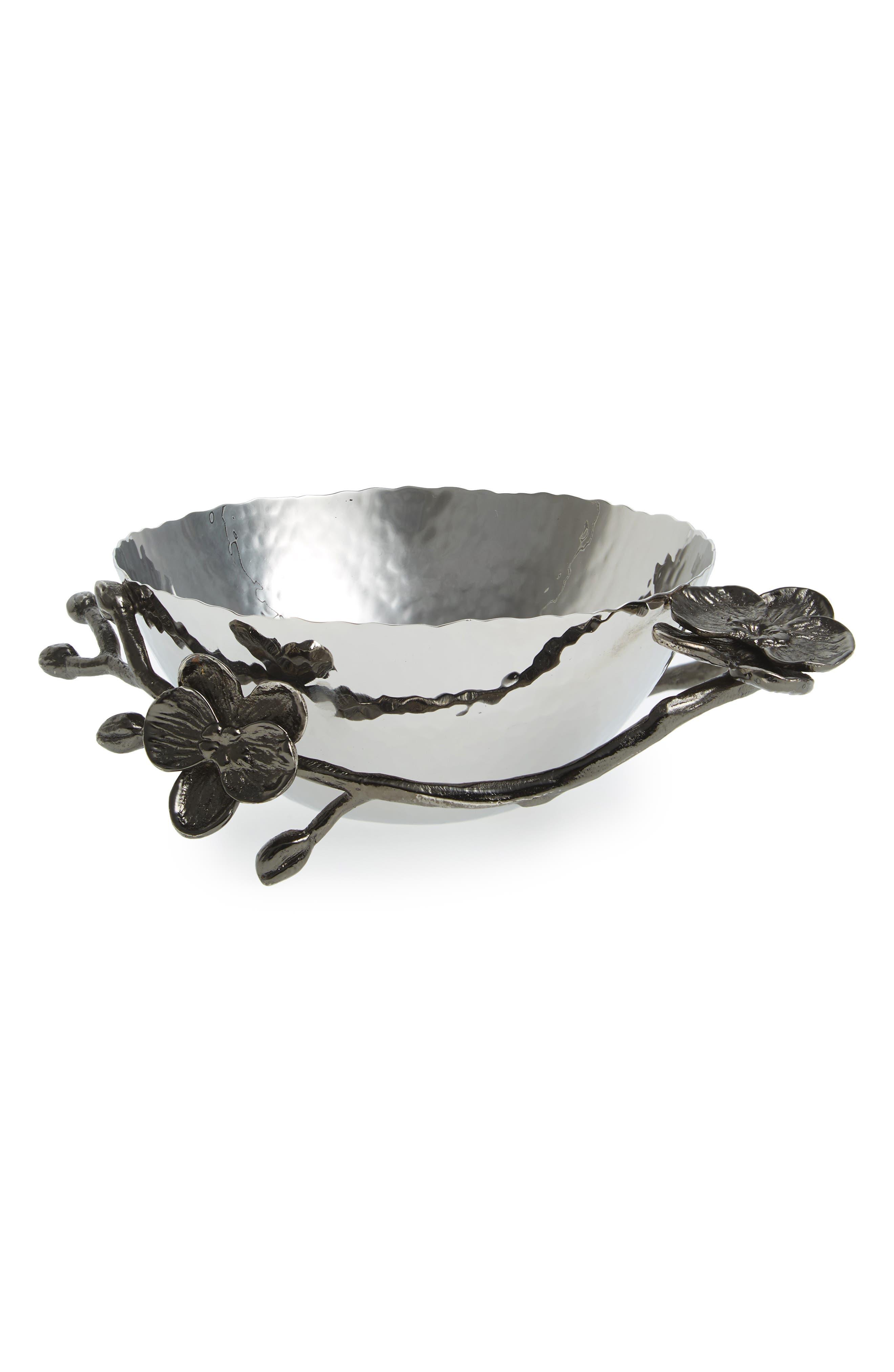 'Black Orchid' Nut Bowl,                         Main,                         color, Black Nickel