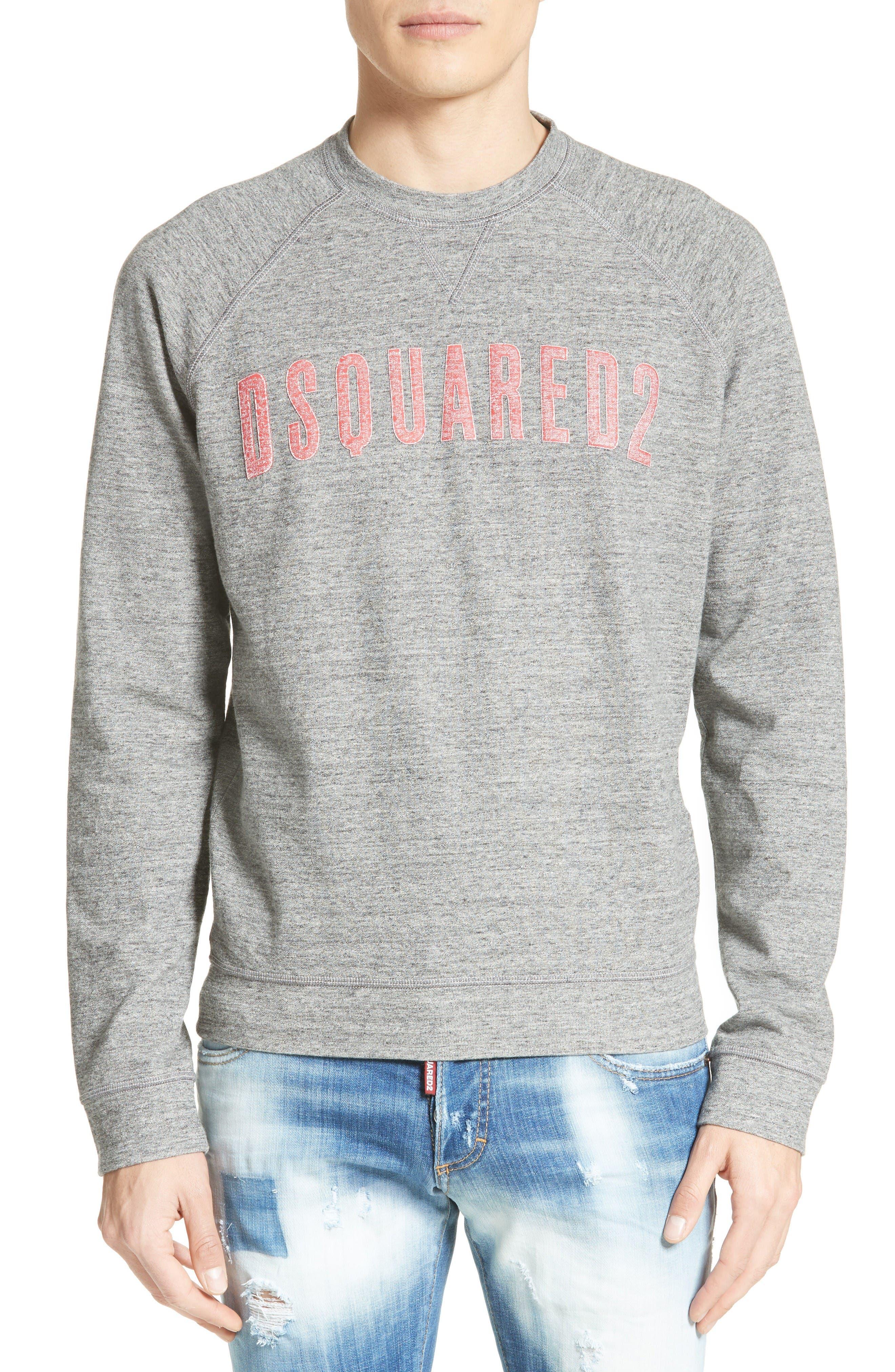 Logo Graphic Sweatshirt,                         Main,                         color, Dark Grey
