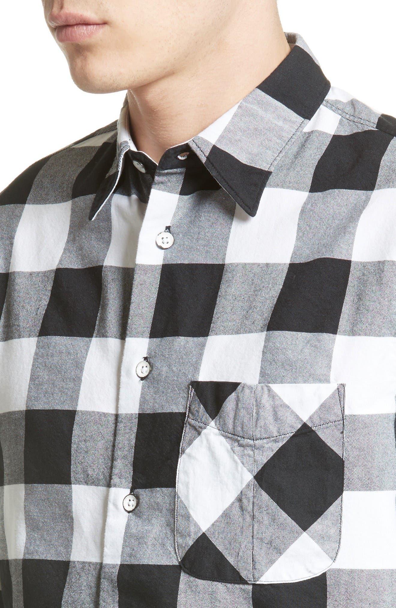 Alternate Image 4  - rag & bone Beach Trim Fit Large Check Sport Shirt