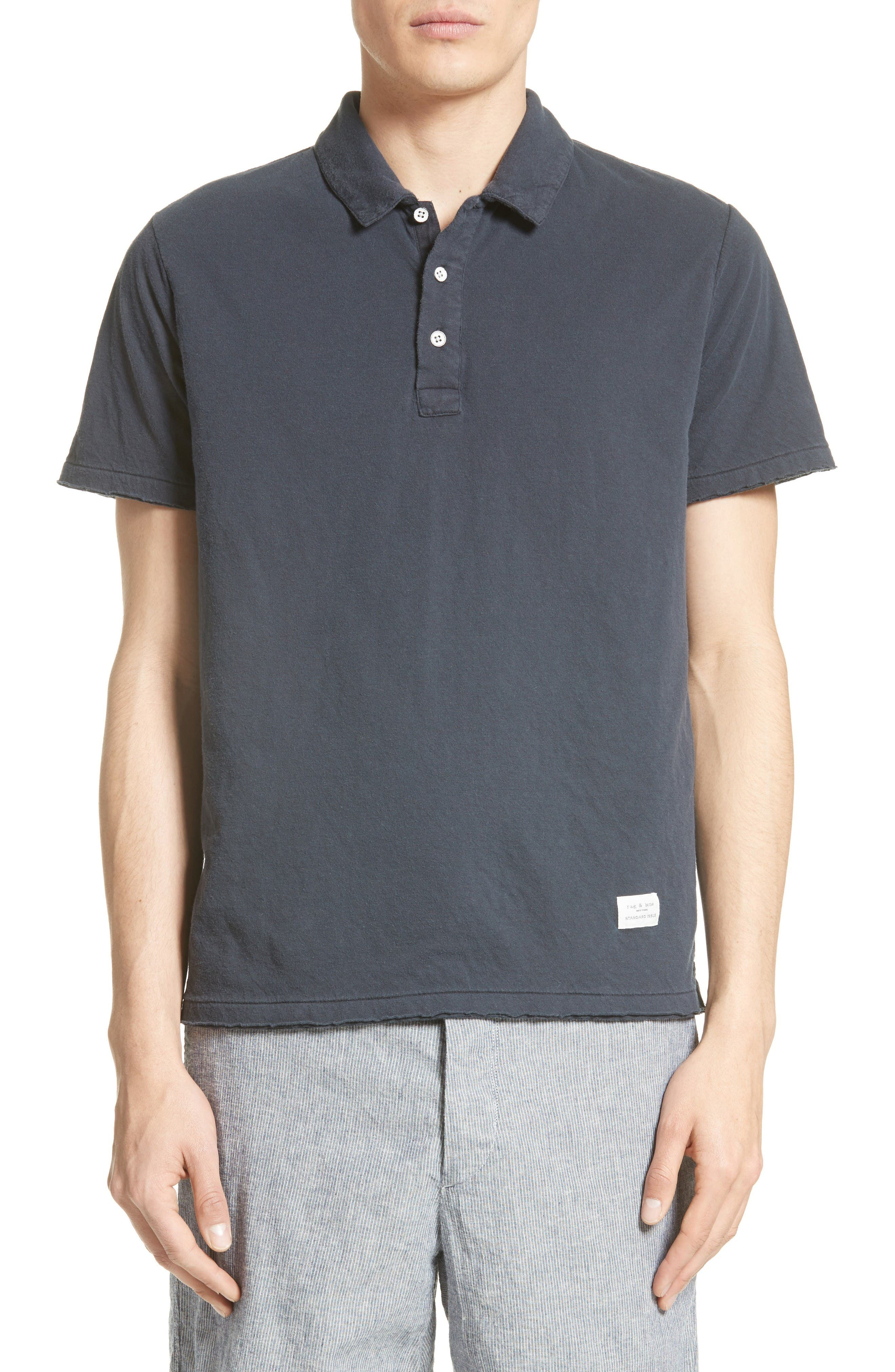 Standard Issue Double Knit Polo,                         Main,                         color, Navy