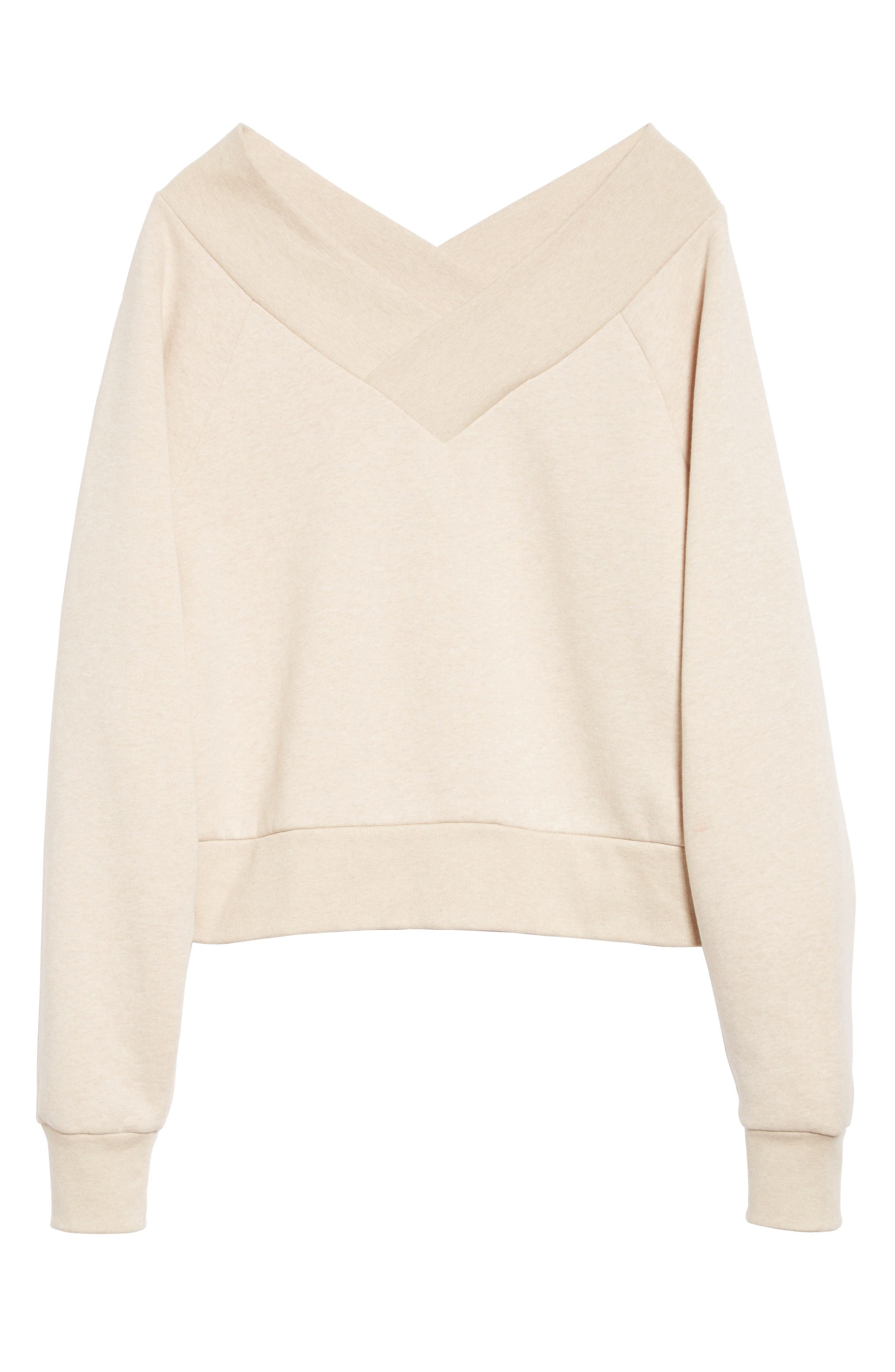 Alternate Image 4  - Burberry Falacho V-Neck Sweatshirt