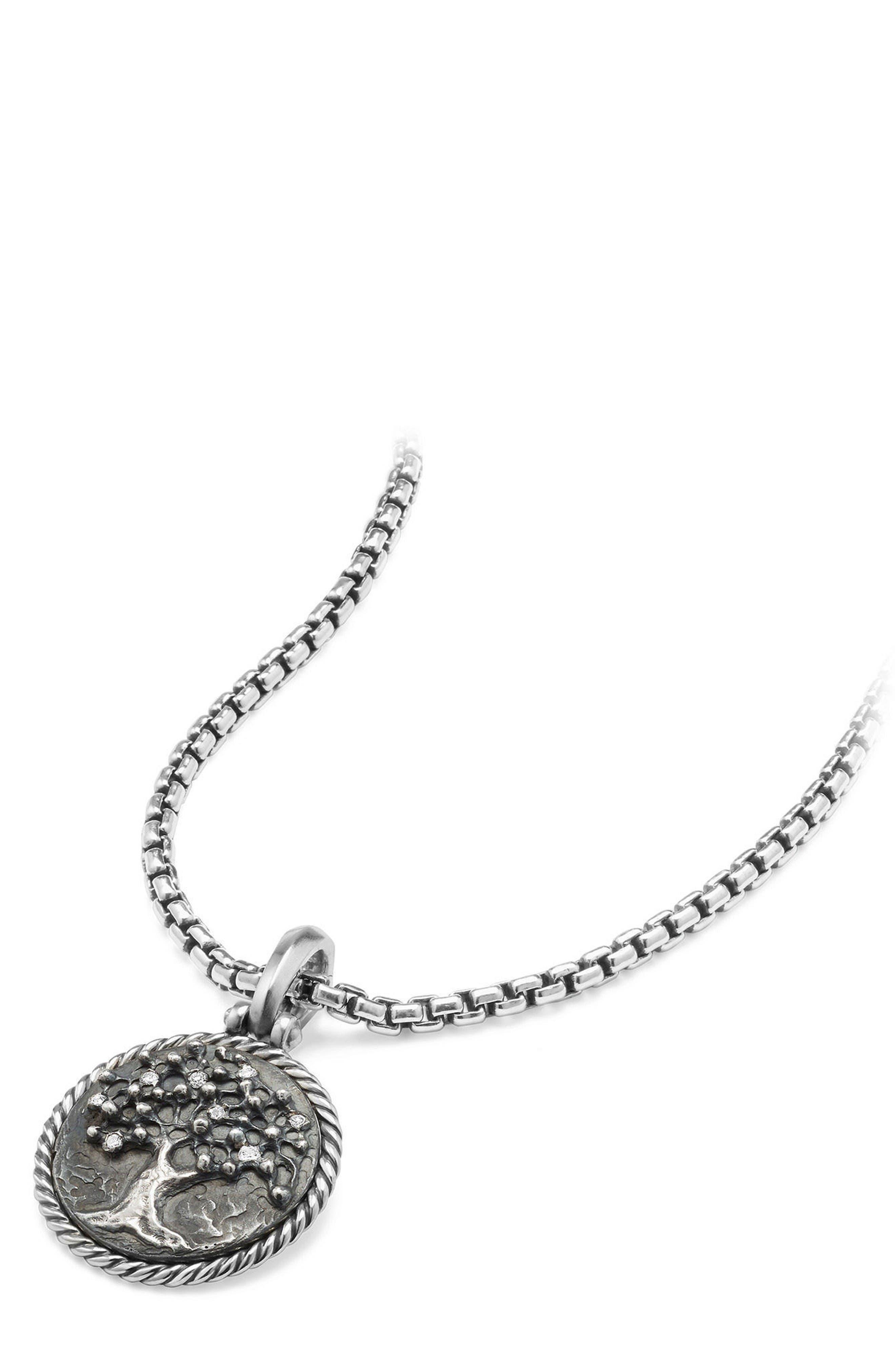 Tree of Life Diamond Amulet,                             Alternate thumbnail 2, color,                             Silver
