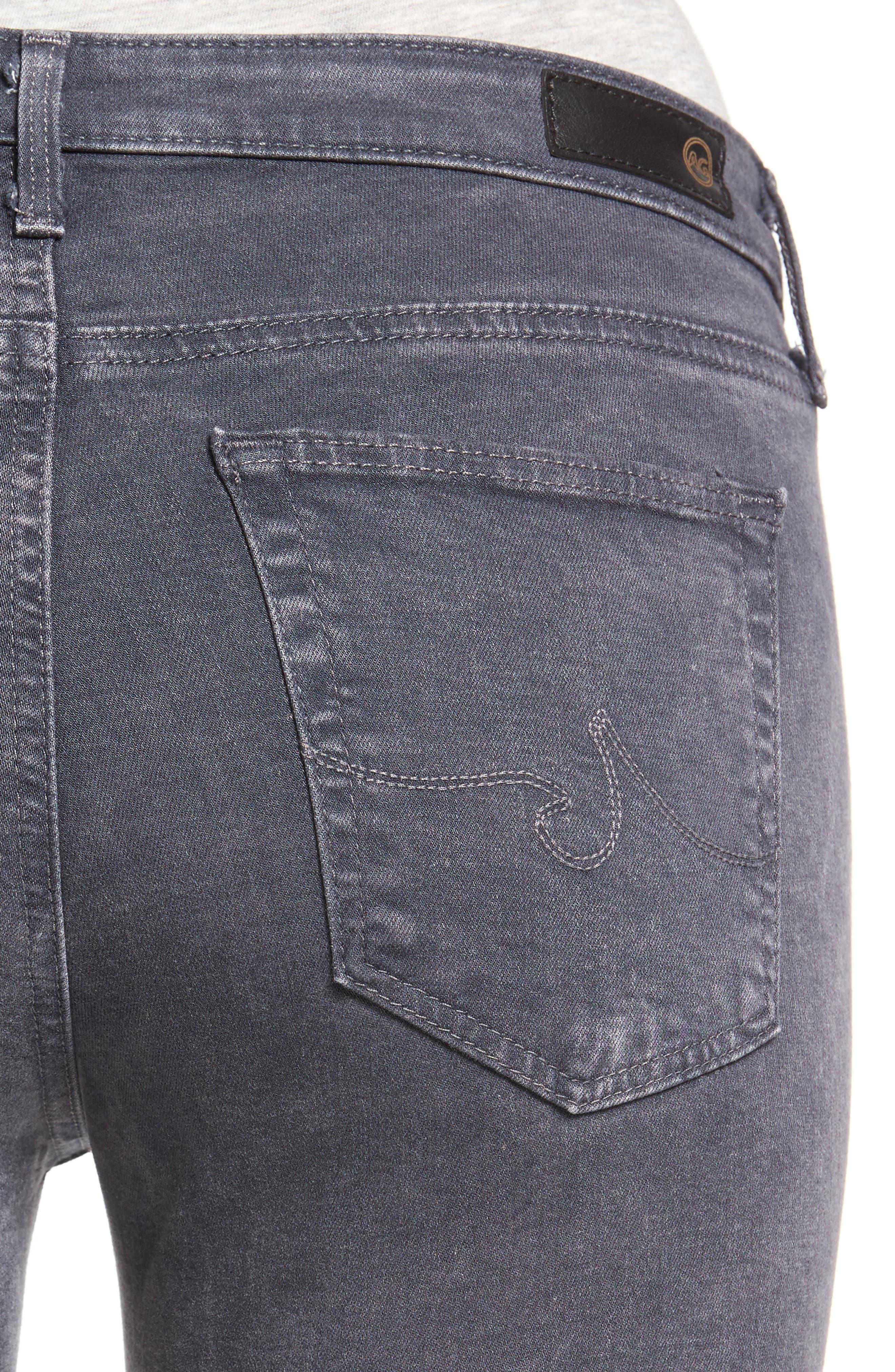 Middi Ankle Skinny Jeans,                             Alternate thumbnail 4, color,                             Erosion