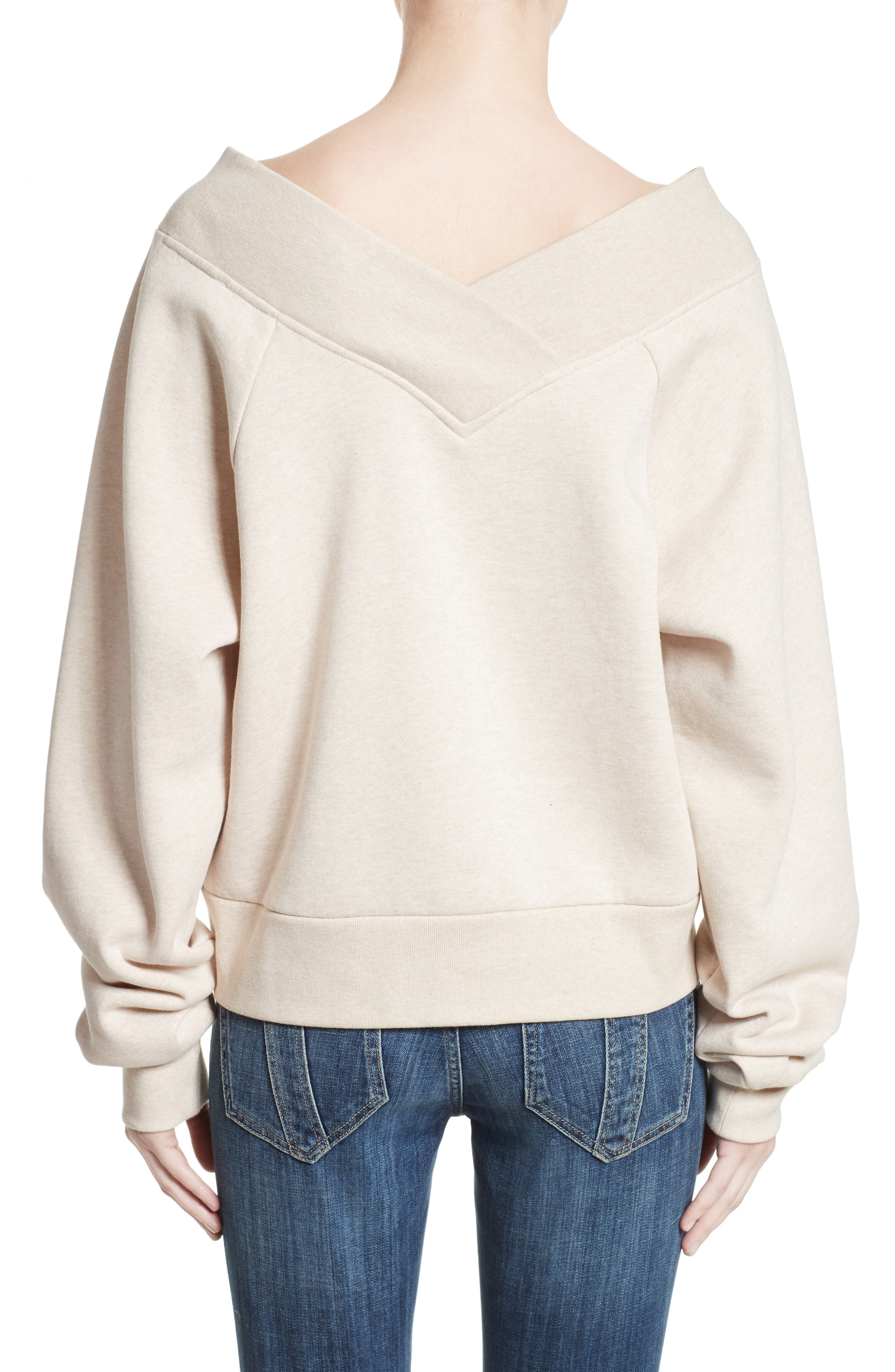 Alternate Image 2  - Burberry Falacho V-Neck Sweatshirt