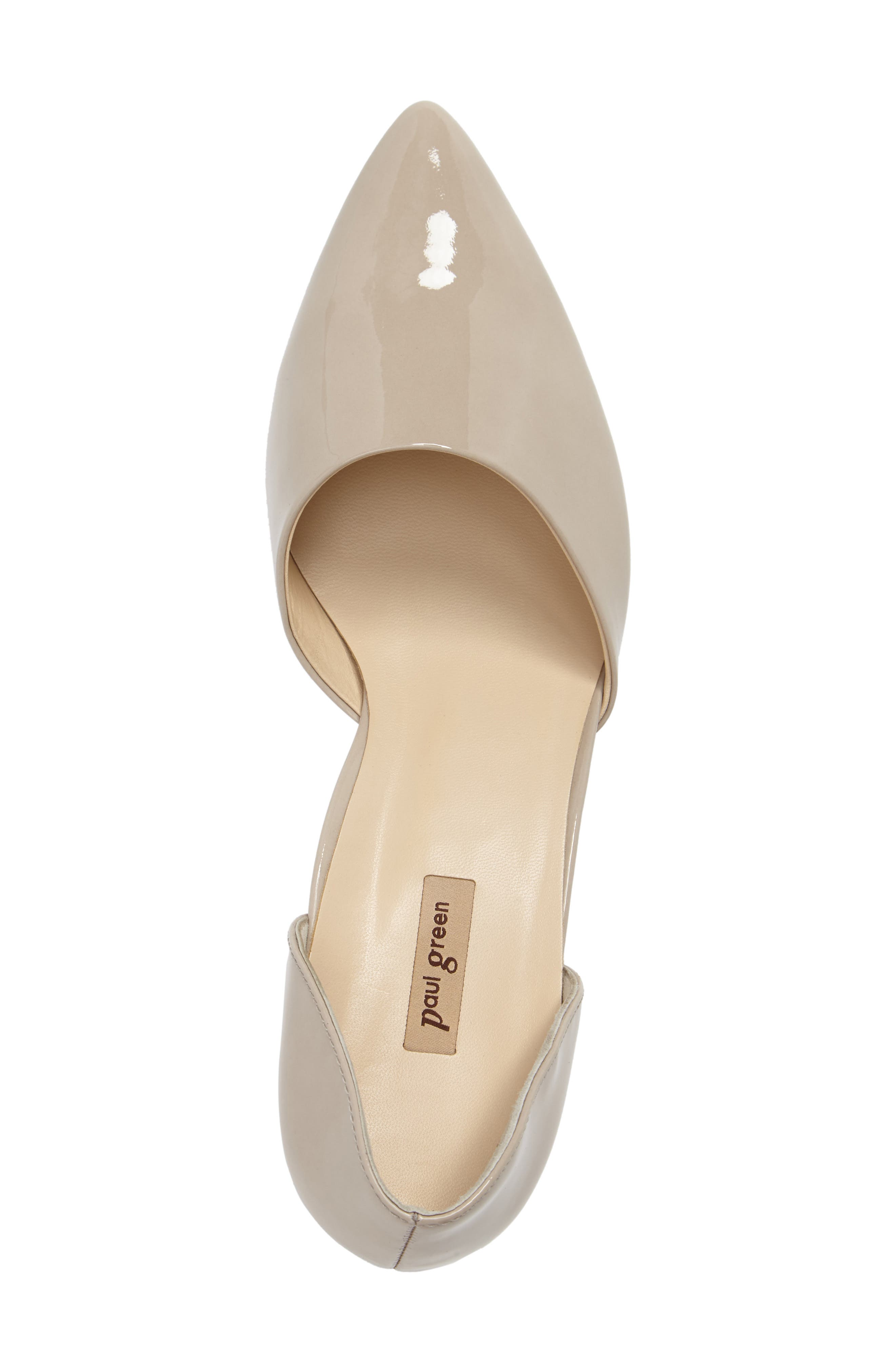 'Julia' d'Orsay Pump,                             Alternate thumbnail 5, color,                             Taupe Patent