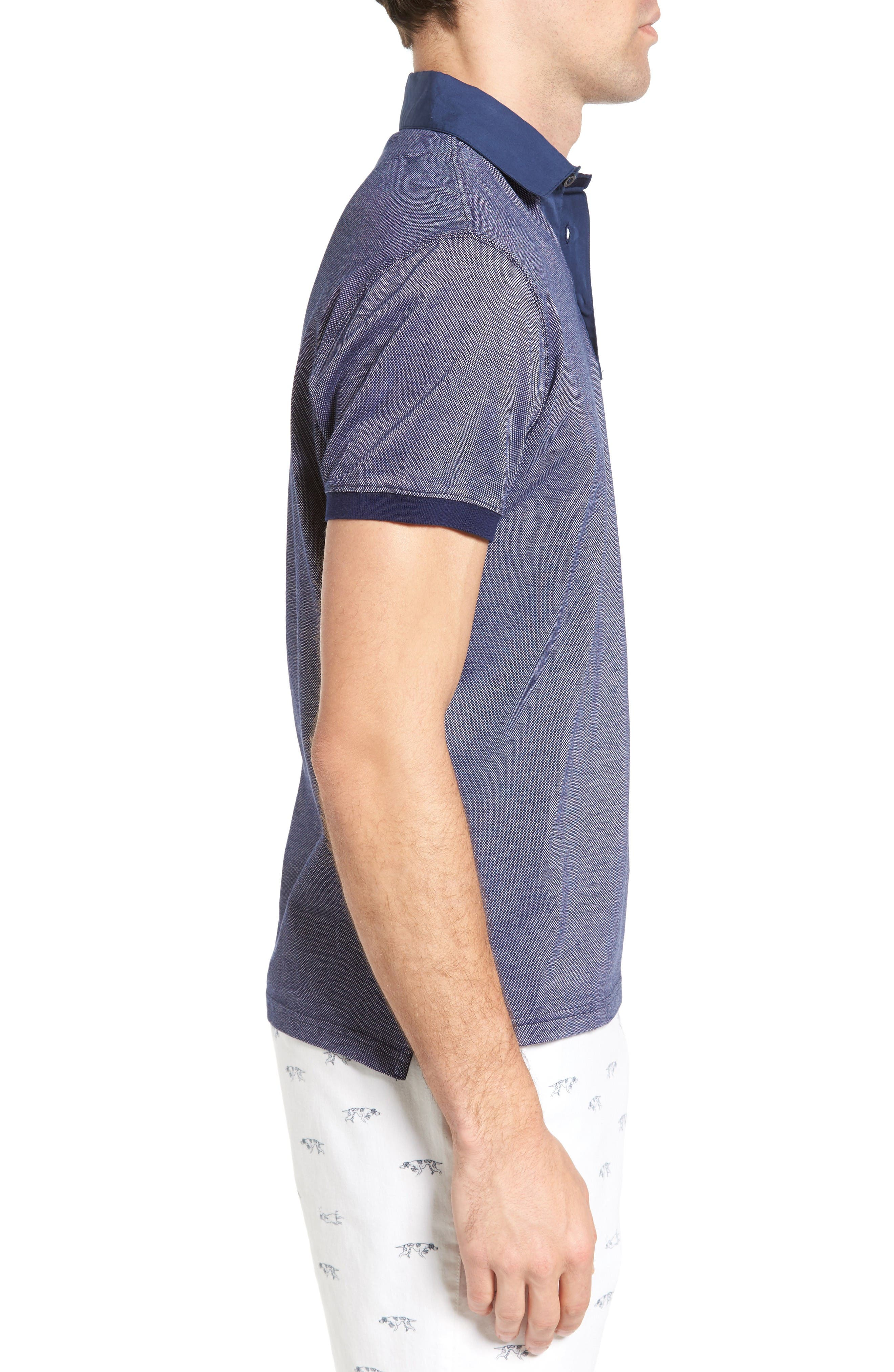 Fisher Parade Sports Fit Polo,                             Alternate thumbnail 3, color,                             Navy