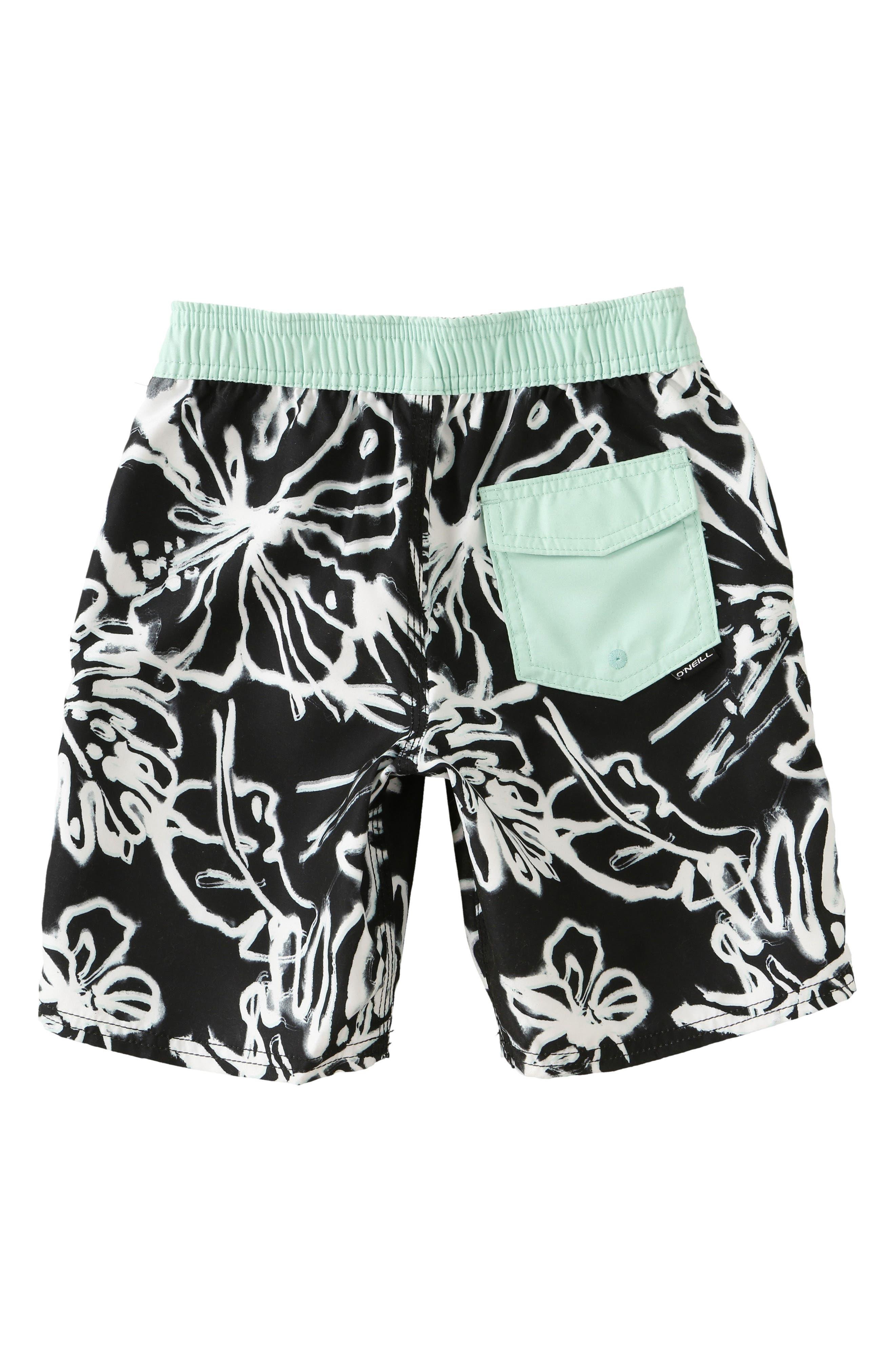 Hanalei Board Shorts,                             Alternate thumbnail 2, color,                             Black