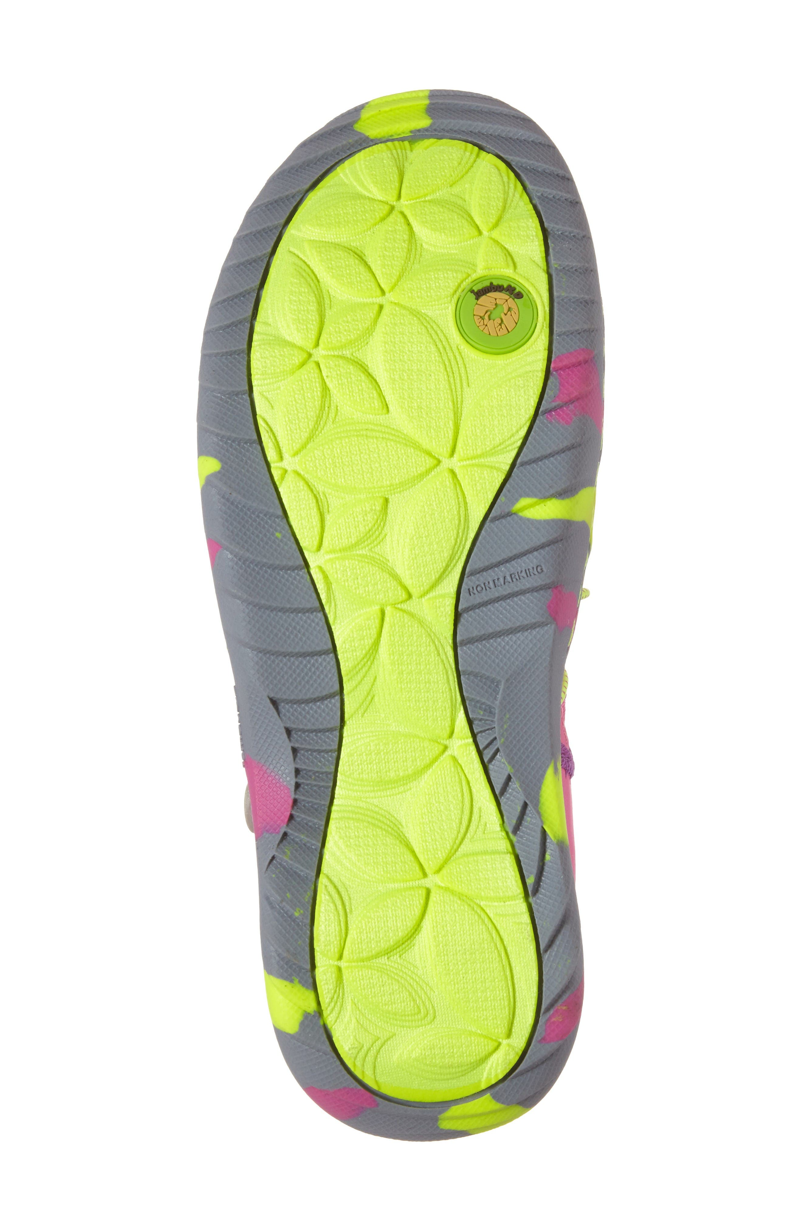Everly Water Friendly Sport Sandal,                             Alternate thumbnail 6, color,                             Pink/ Neon