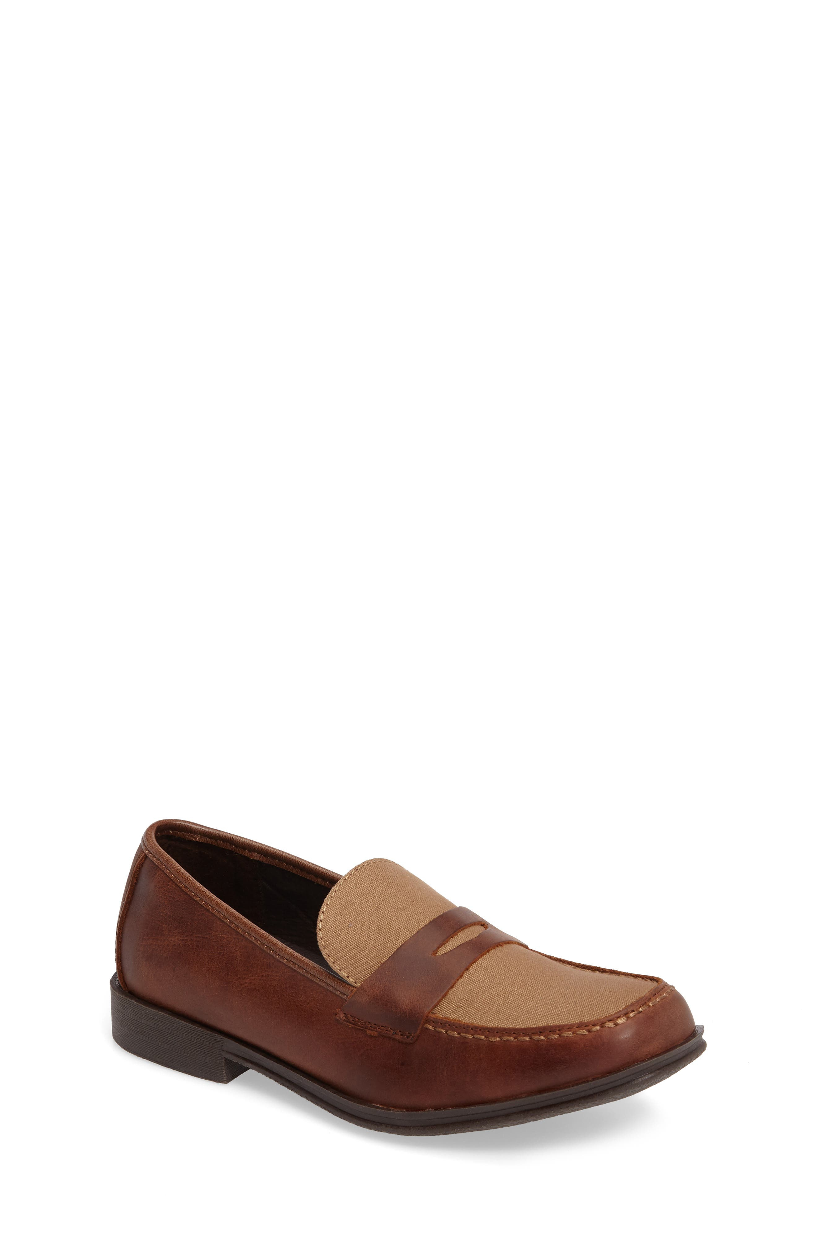 Club Loft Loafer,                         Main,                         color, Tan/ Brown Leather
