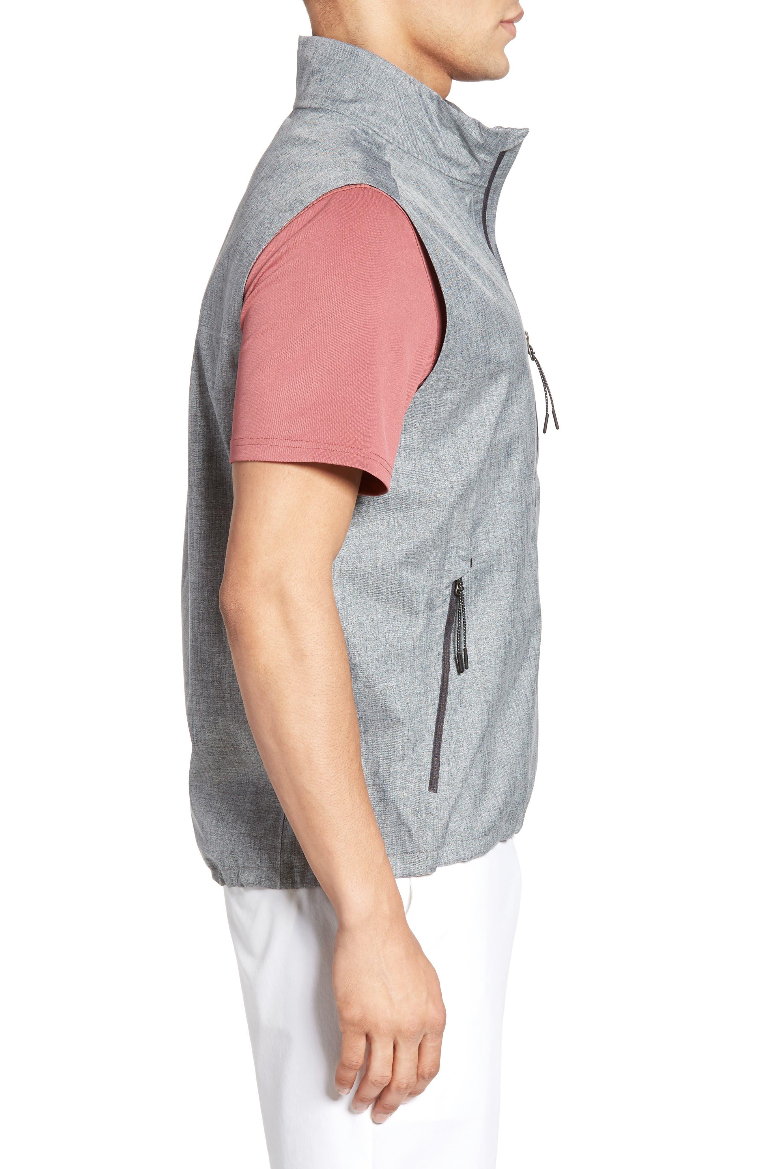 The Newton Vest,                             Alternate thumbnail 3, color,                             Heather Grey