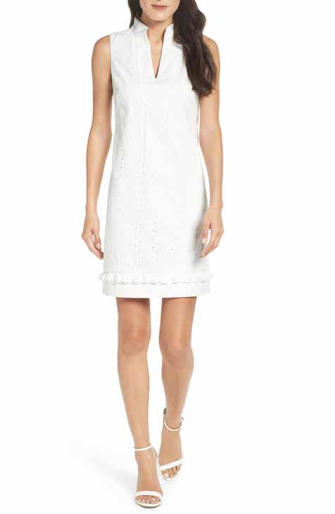 d42dda538a Eliza J Mandarin Collar Lace Shift Dress