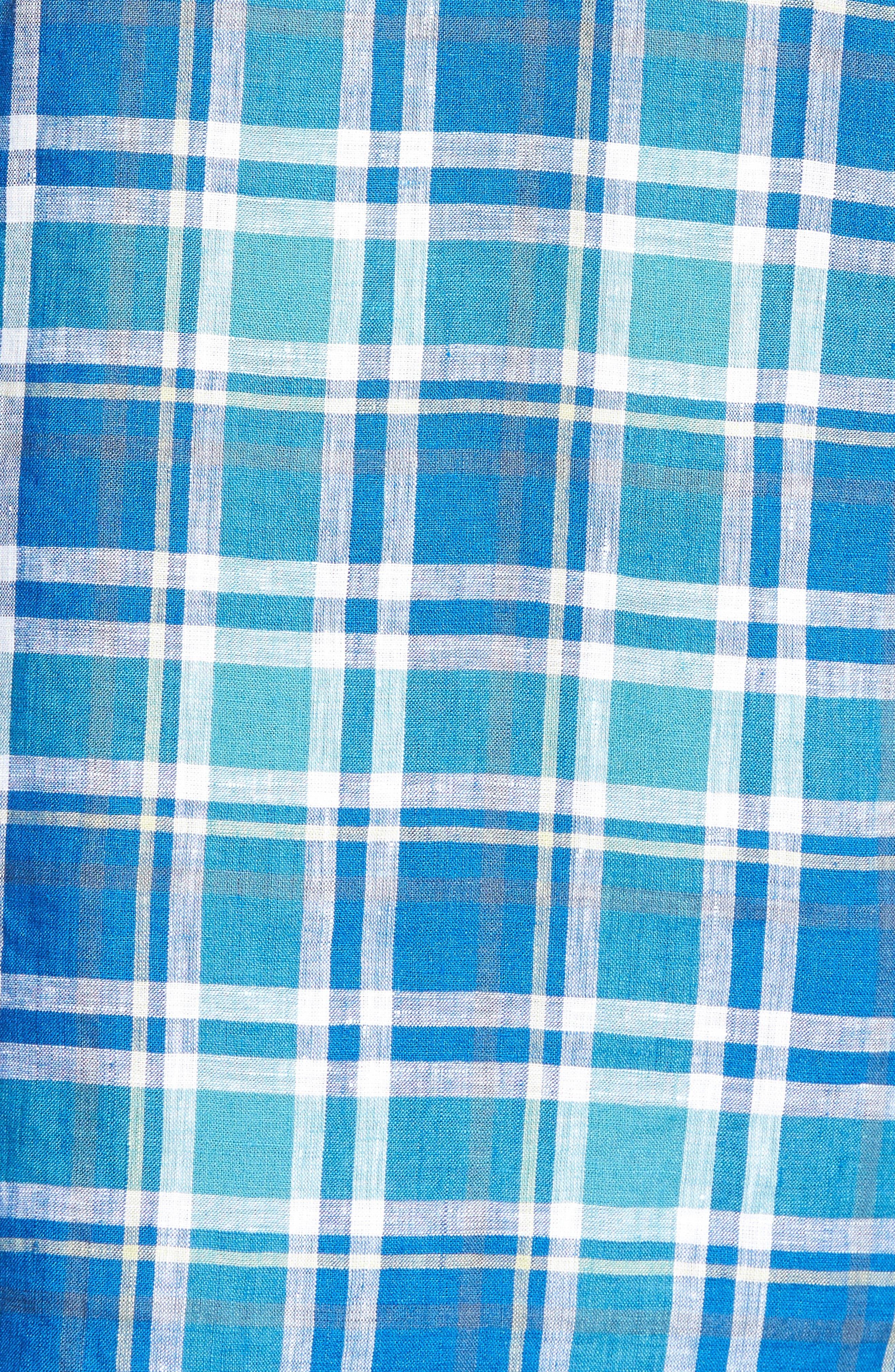 Crespi IV Tailored Fit Sport Shirt,                             Alternate thumbnail 5, color,                             Teal