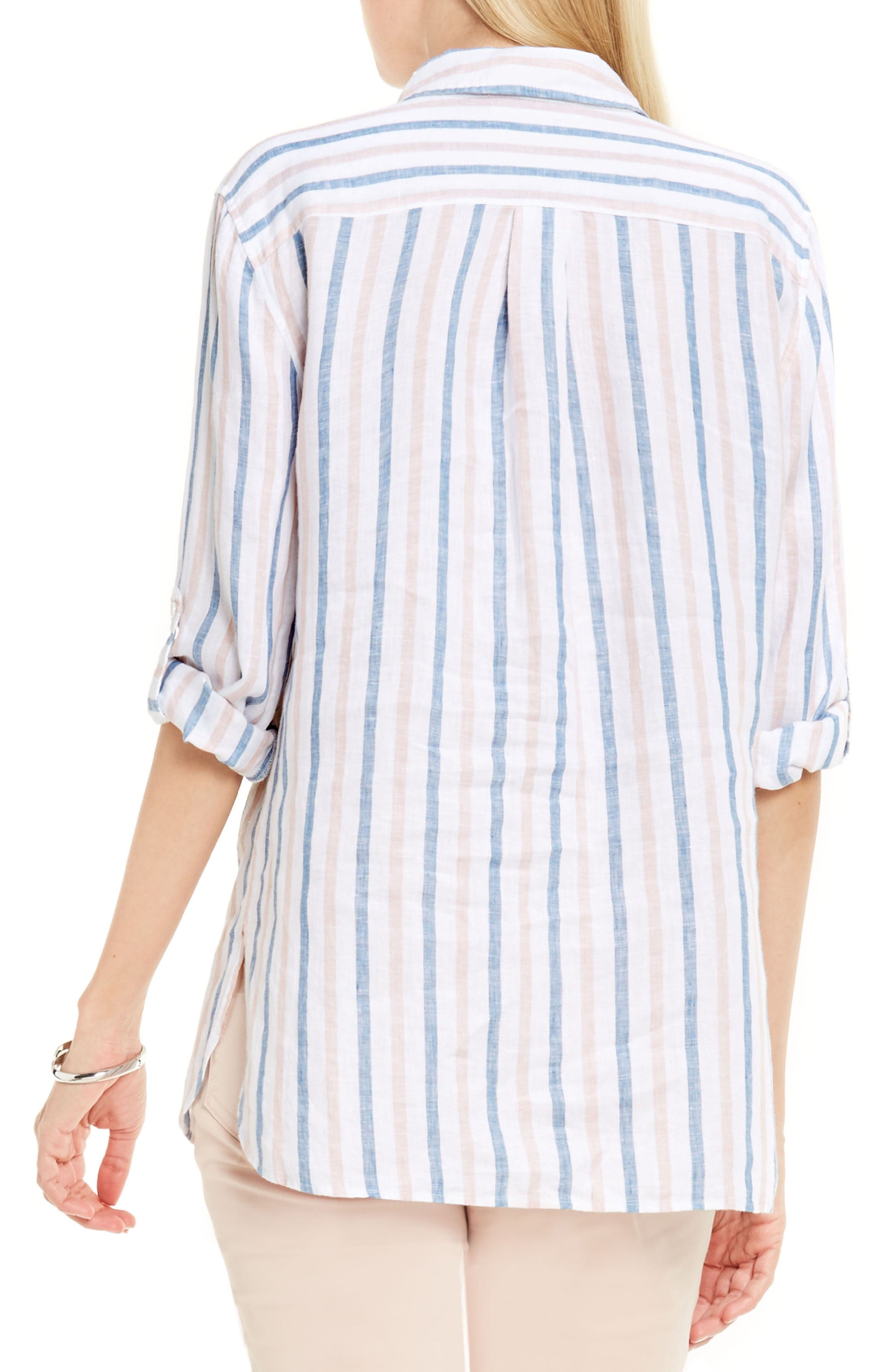Alternate Image 2  - Two by Vince Camuto Canopy Stripe Linen Shirt