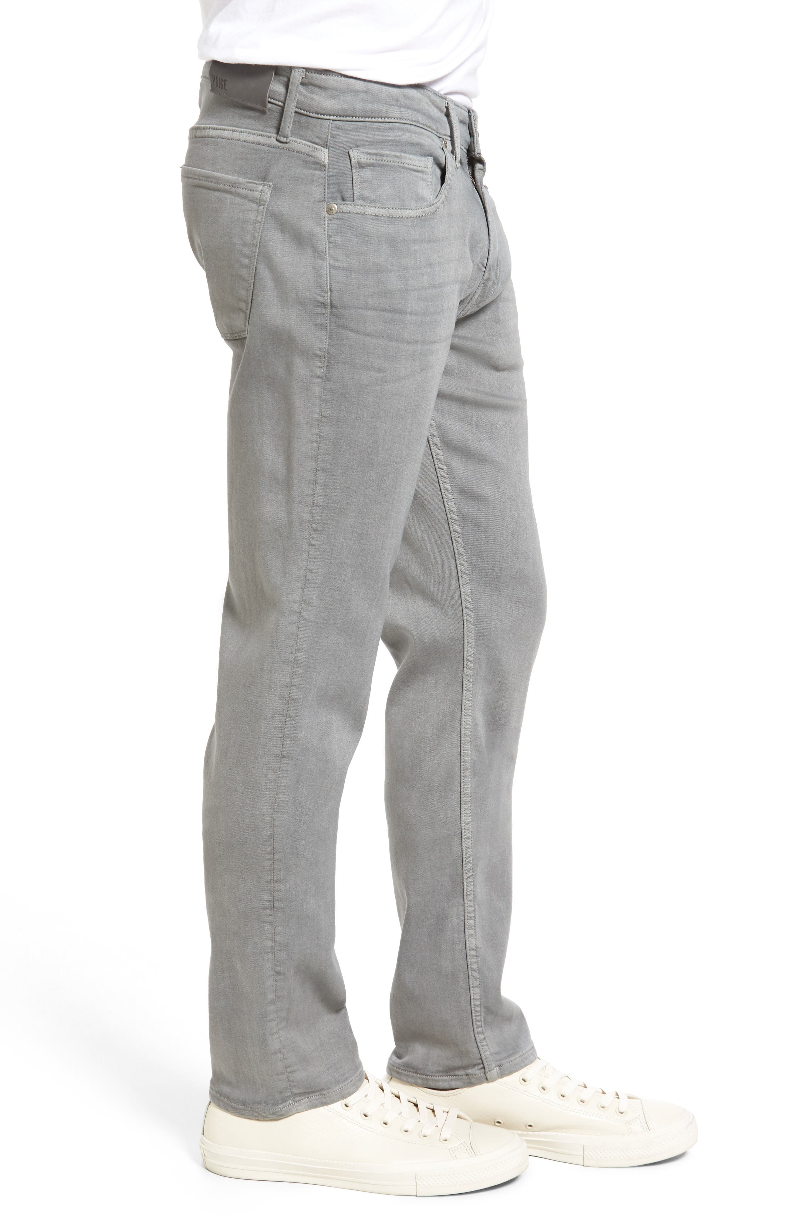 Transcend - Lennox Slim Fit Jeans,                             Alternate thumbnail 3, color,                             Grey Clay