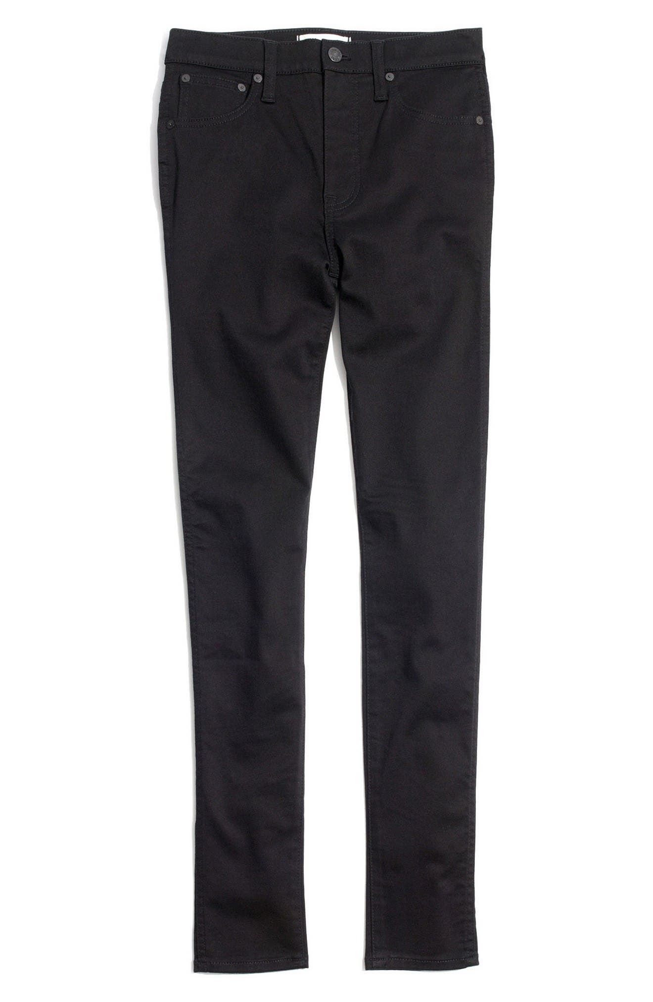 10-Inch High-Rise Skinny Jeans,                             Alternate thumbnail 4, color,                             Carbondale