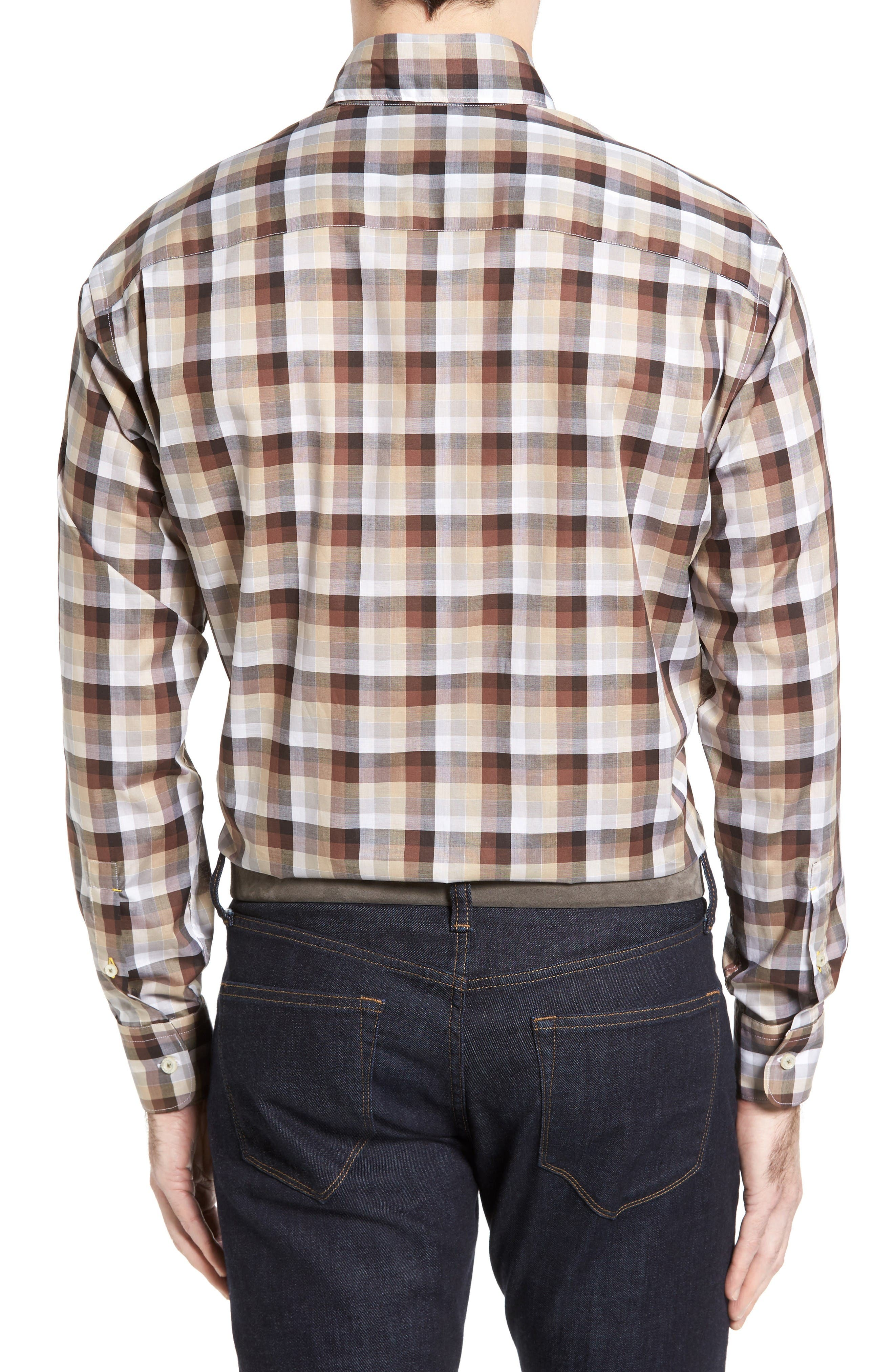 Alternate Image 2  - Robert Talbott Anderson Classic Fit Check Sport Shirt
