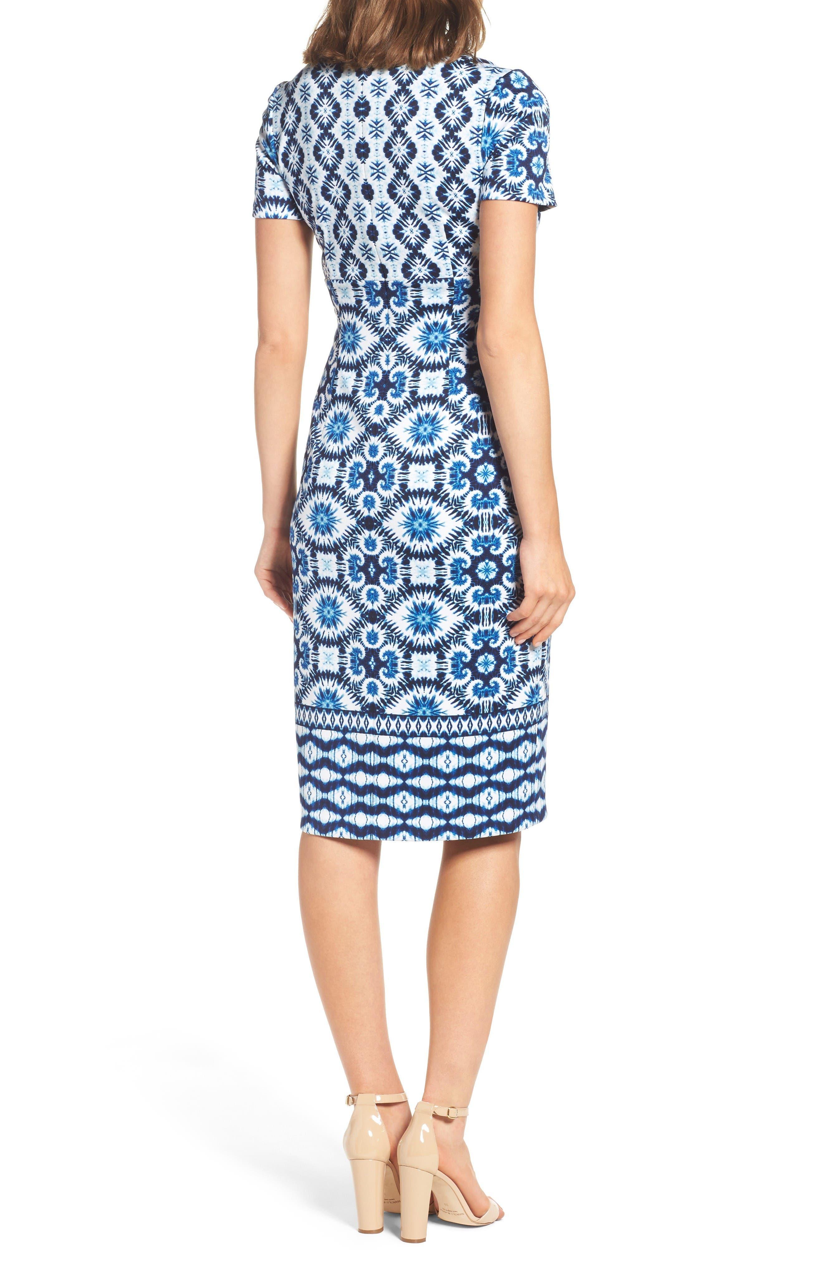 Alternate Image 2  - Maggy London Ikat Sheath Dress