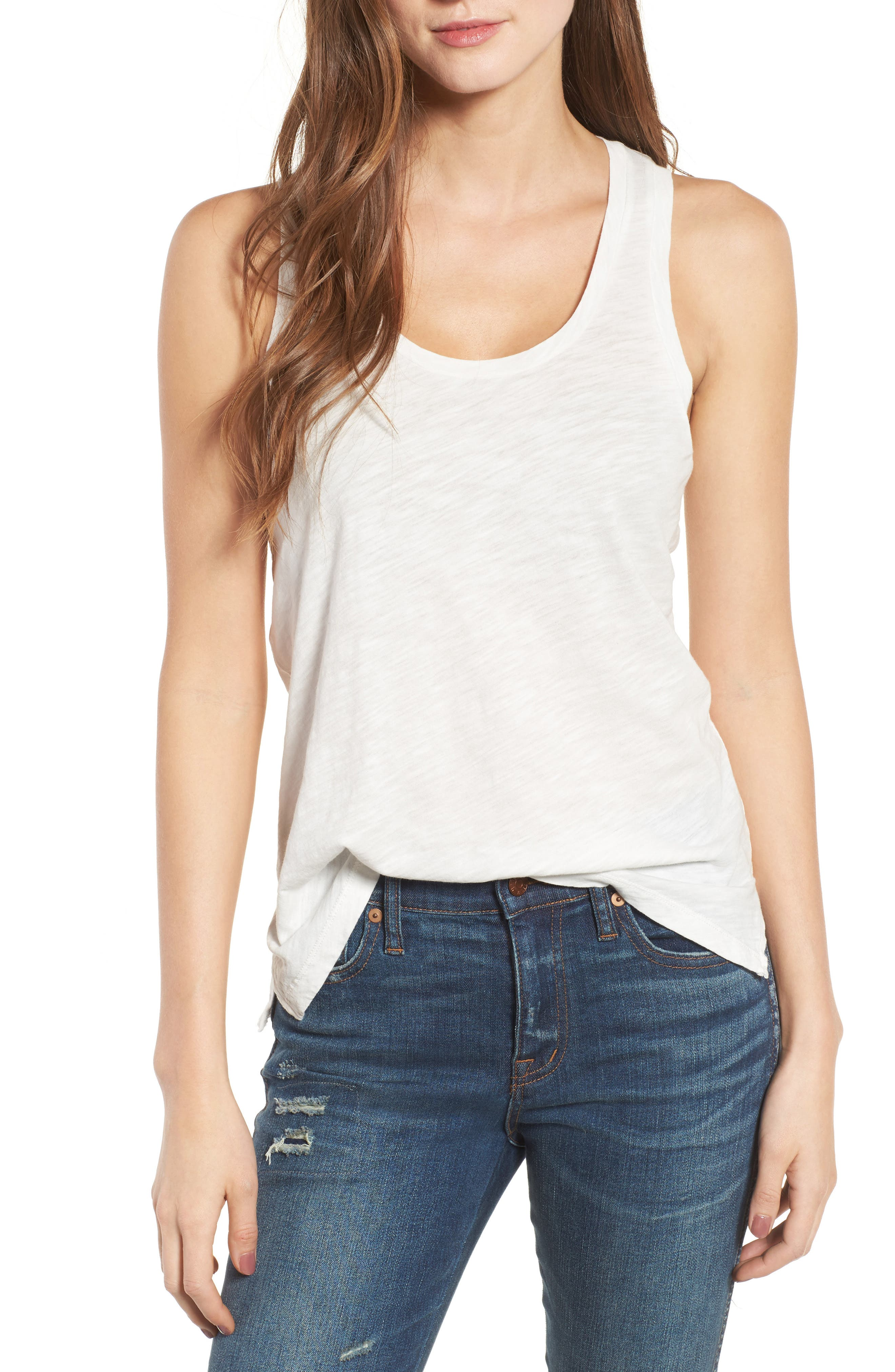 Alternate Image 1 Selected - Madewell Whisper Cotton Tank