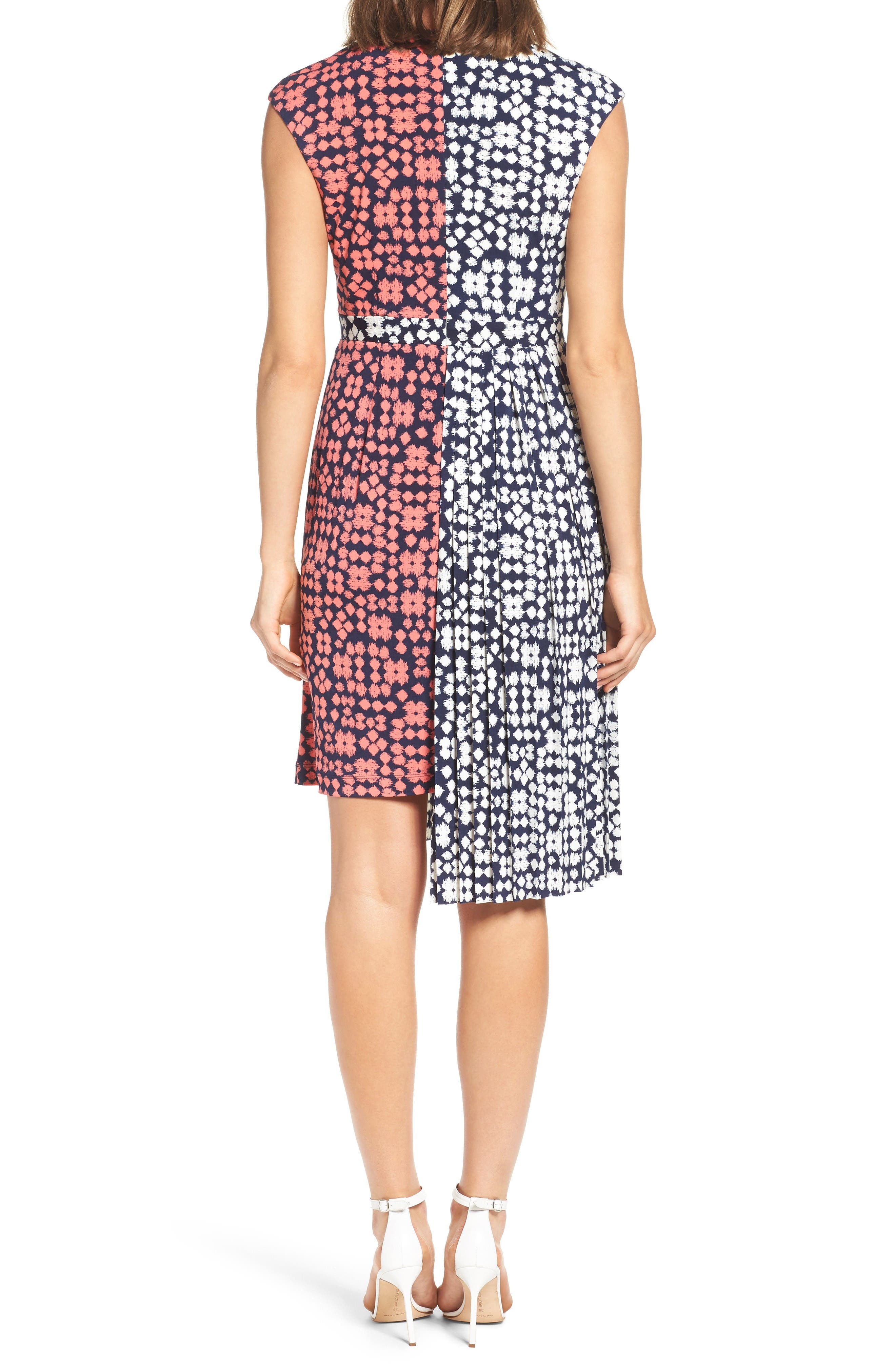 Alternate Image 2  - Maggy London Print Faux Wrap Dress