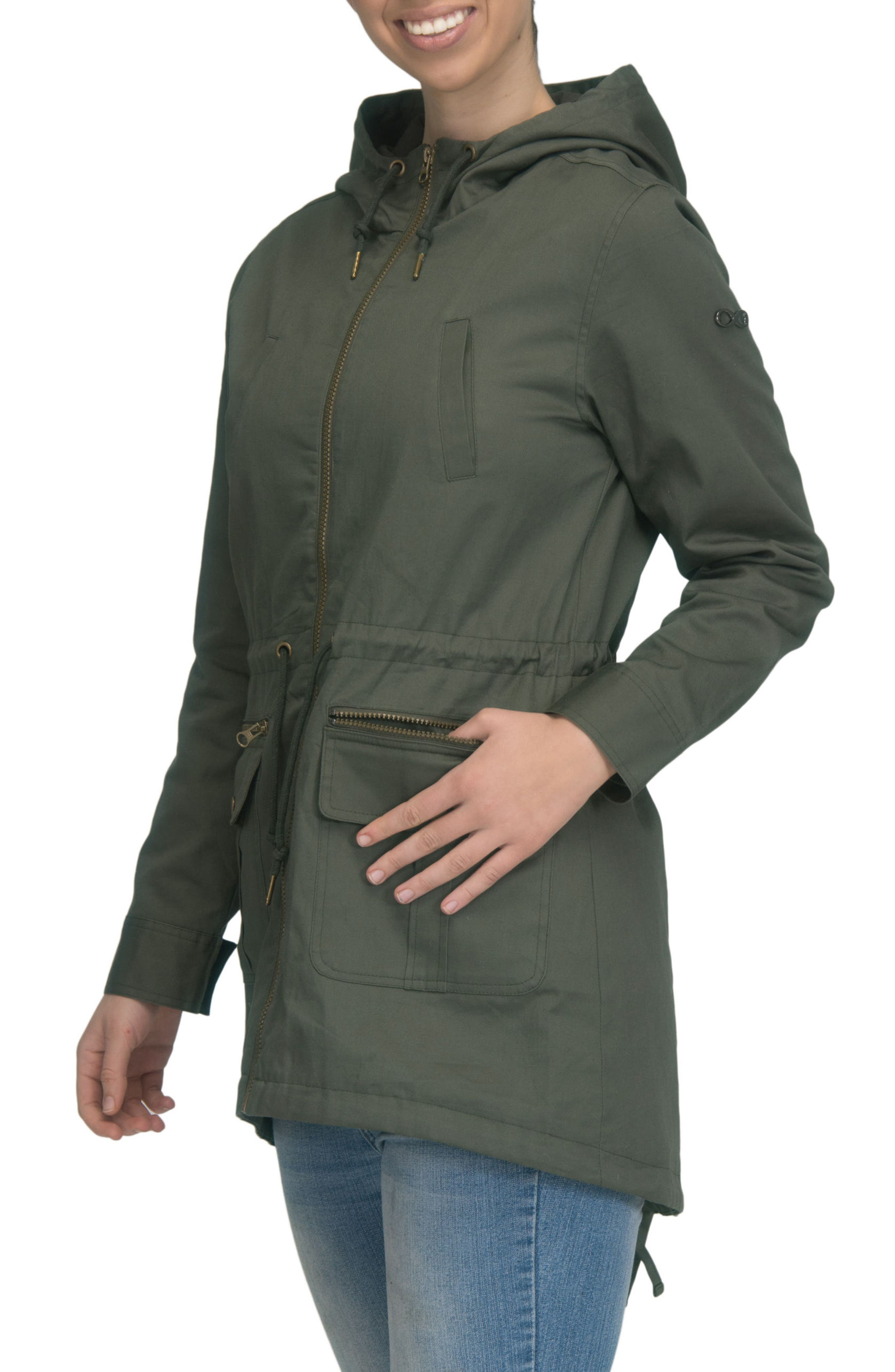 Alternate Image 3  - Modern Eternity Convertible Military Maternity Jacket