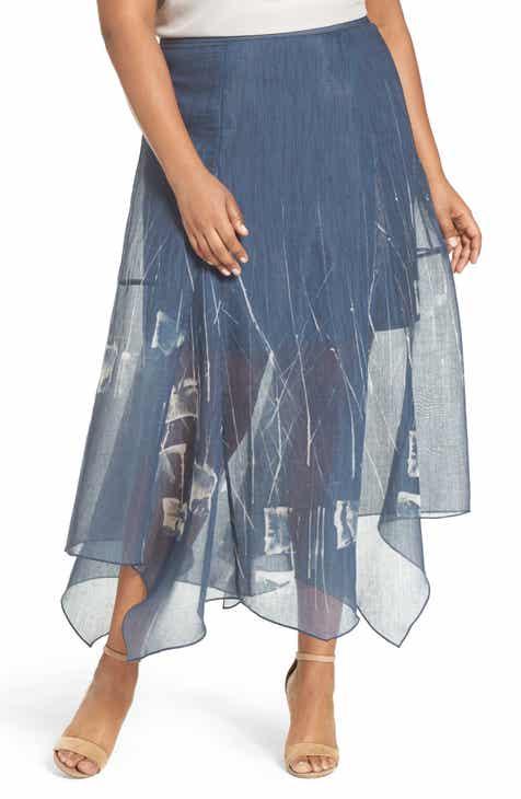NIC+ZOE Spring Tide Maxi Skirt (Plus Size)