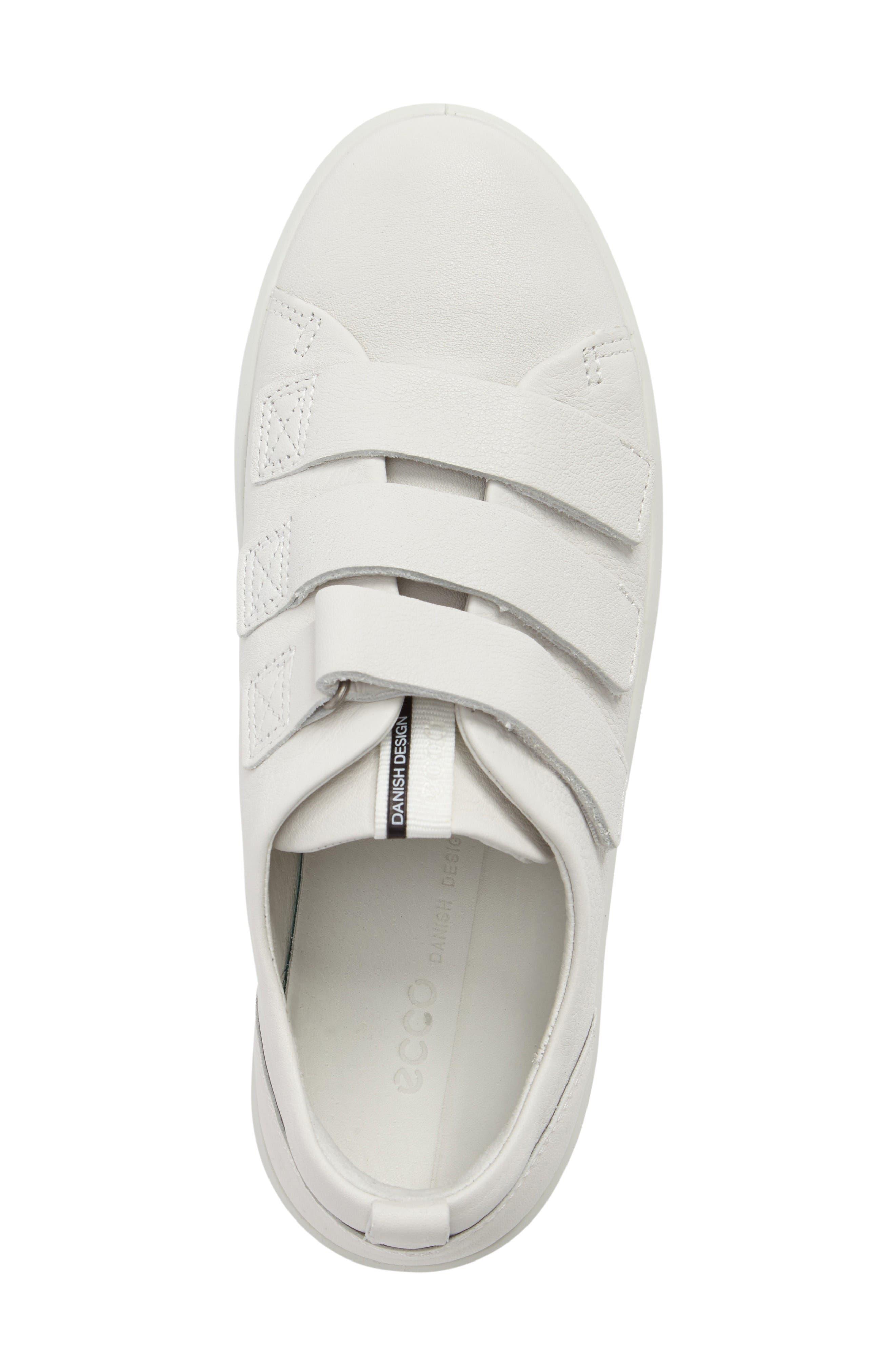 Soft 8 Sneaker,                             Alternate thumbnail 5, color,                             White Leather