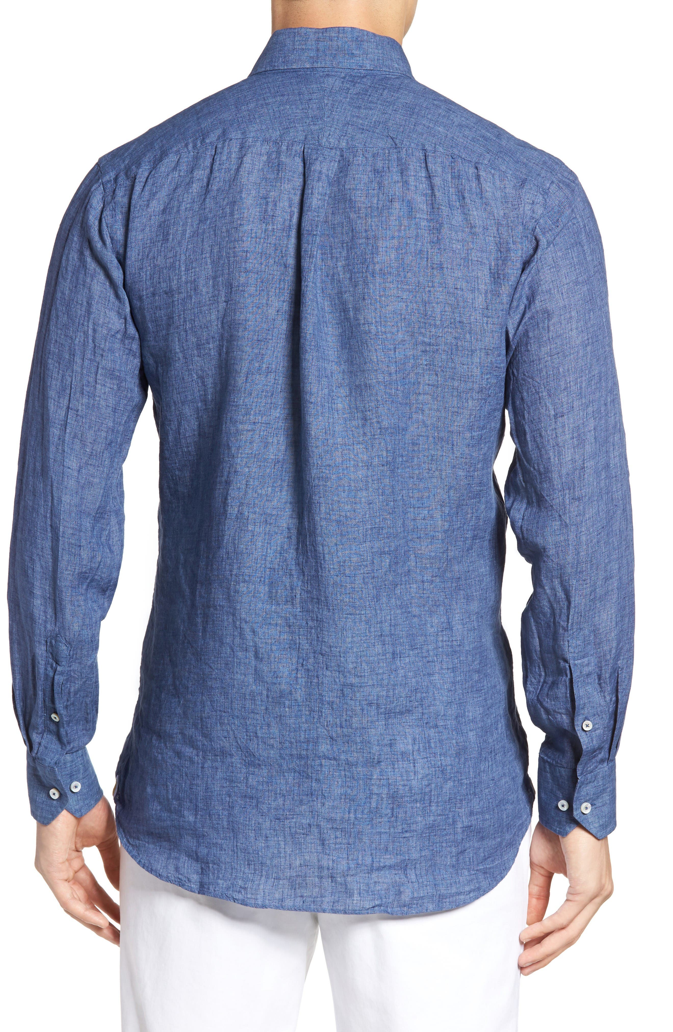Estate Tailored Fit Sport Shirt,                             Alternate thumbnail 2, color,                             Denim