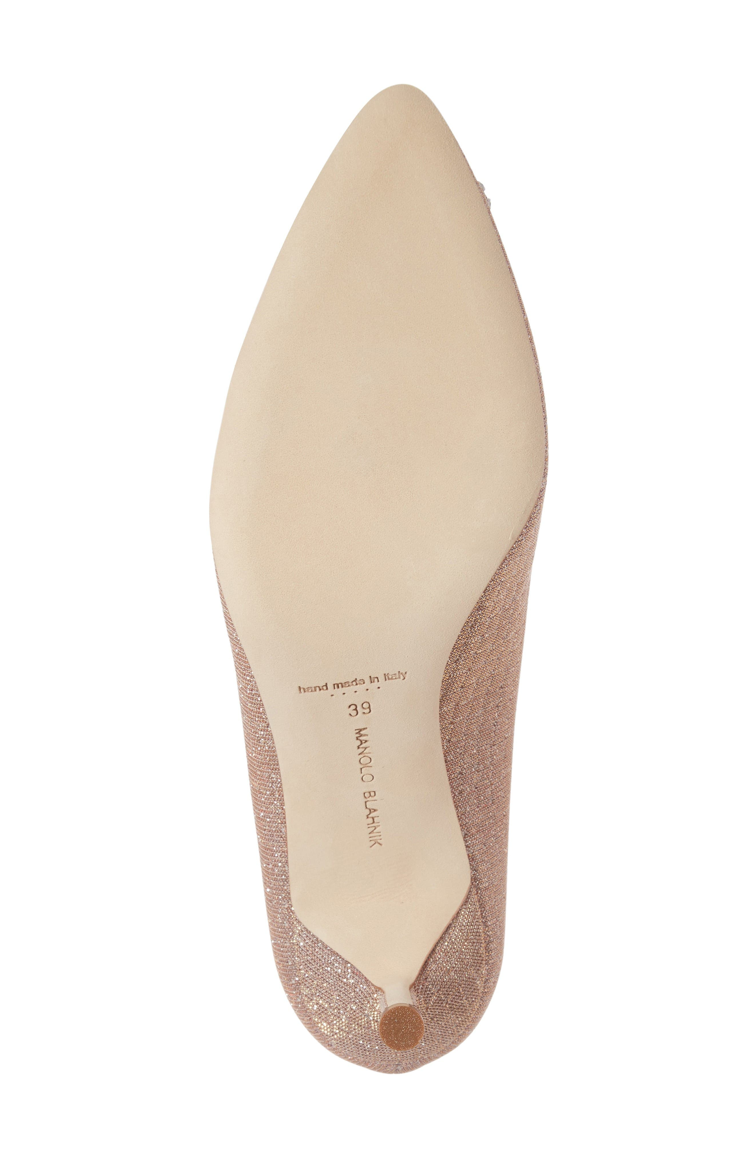 Hangisi Pump,                             Alternate thumbnail 6, color,                             Champagne Fabric