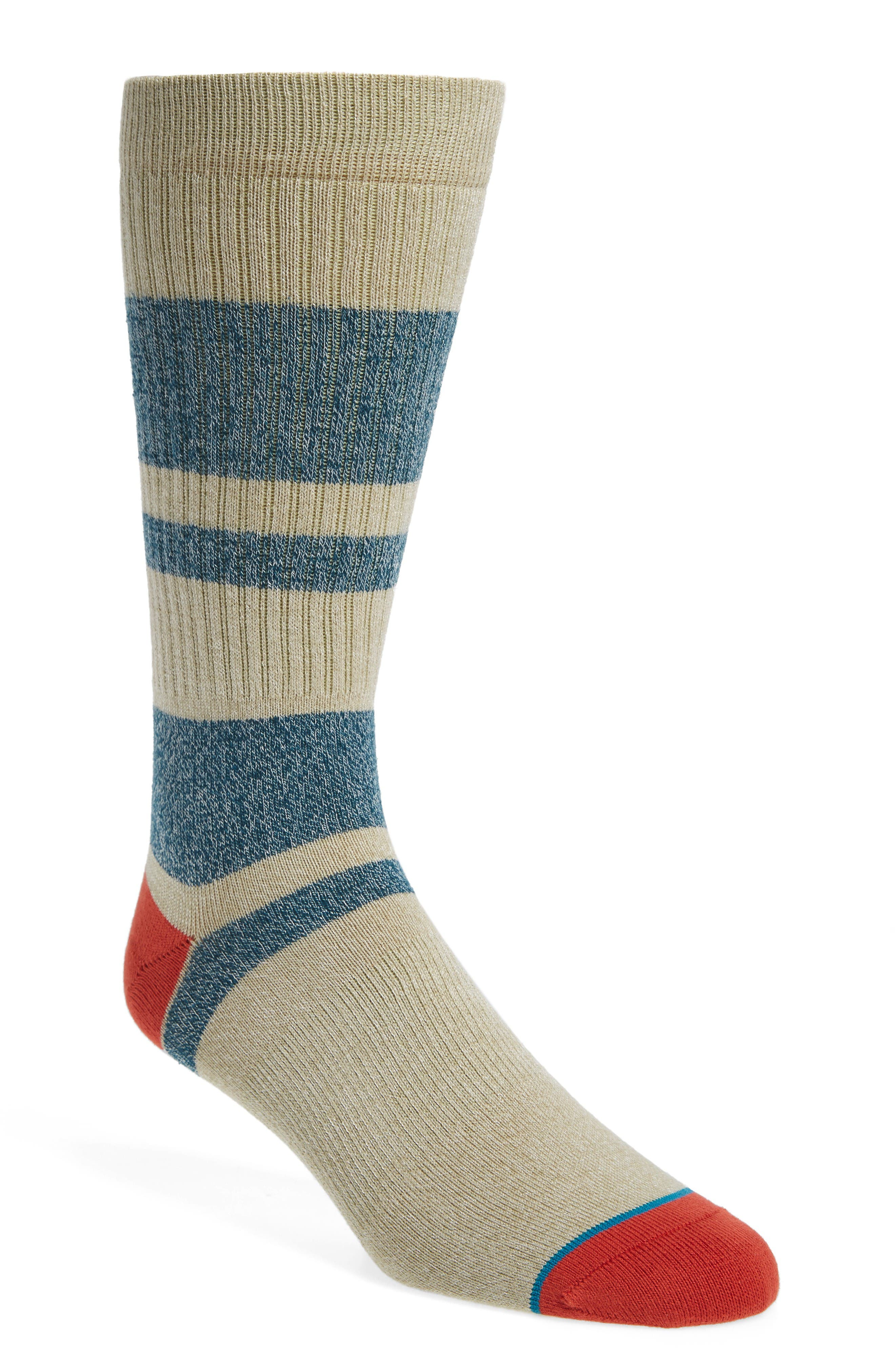First Point Socks,                             Main thumbnail 1, color,                             White/ Blue
