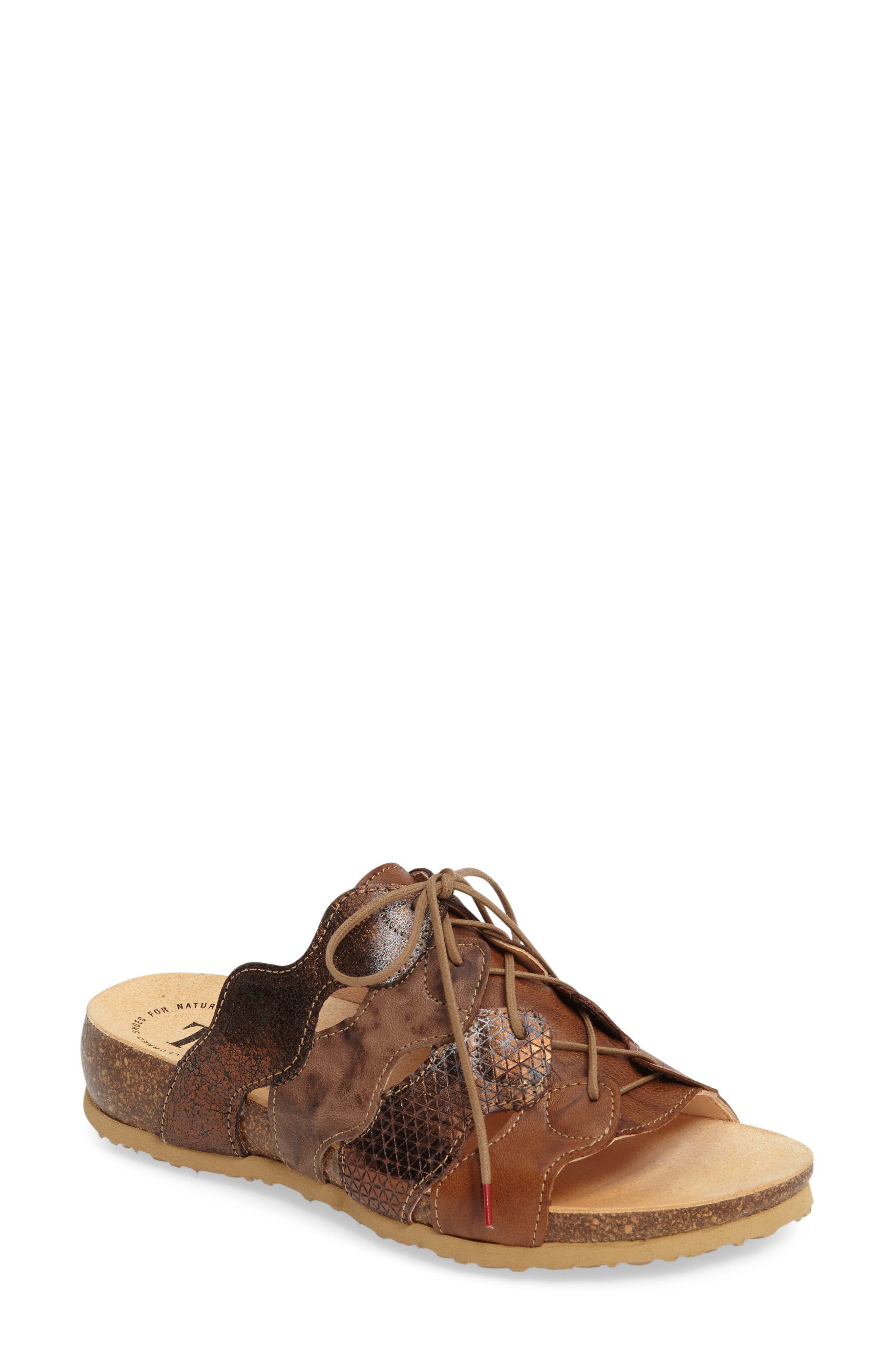 Julia Sandal,                             Main thumbnail 1, color,                             Lion Brown Leather