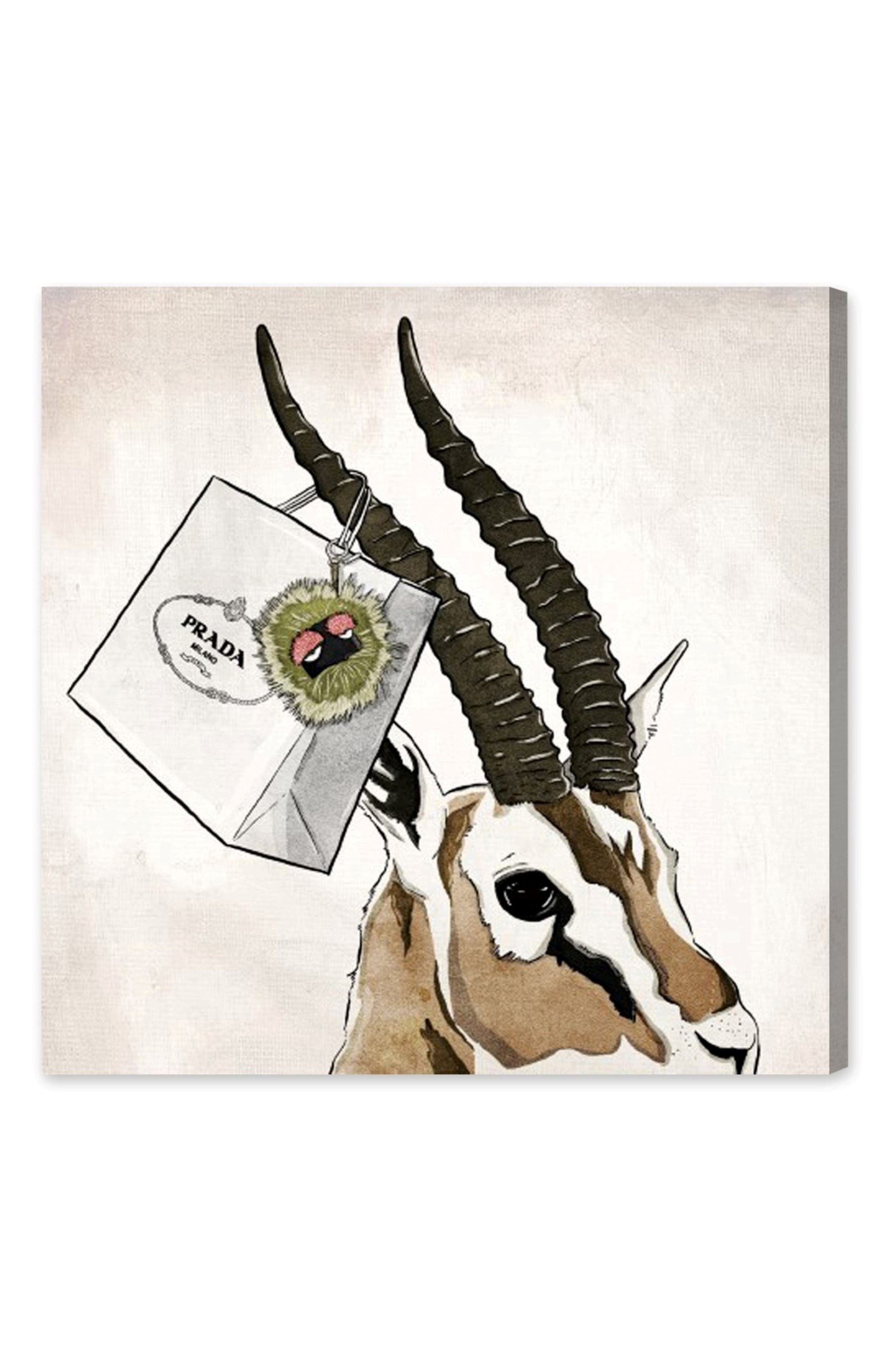 Ultra Luxe Gazelle Canvas Wall Art,                         Main,                         color, Beige