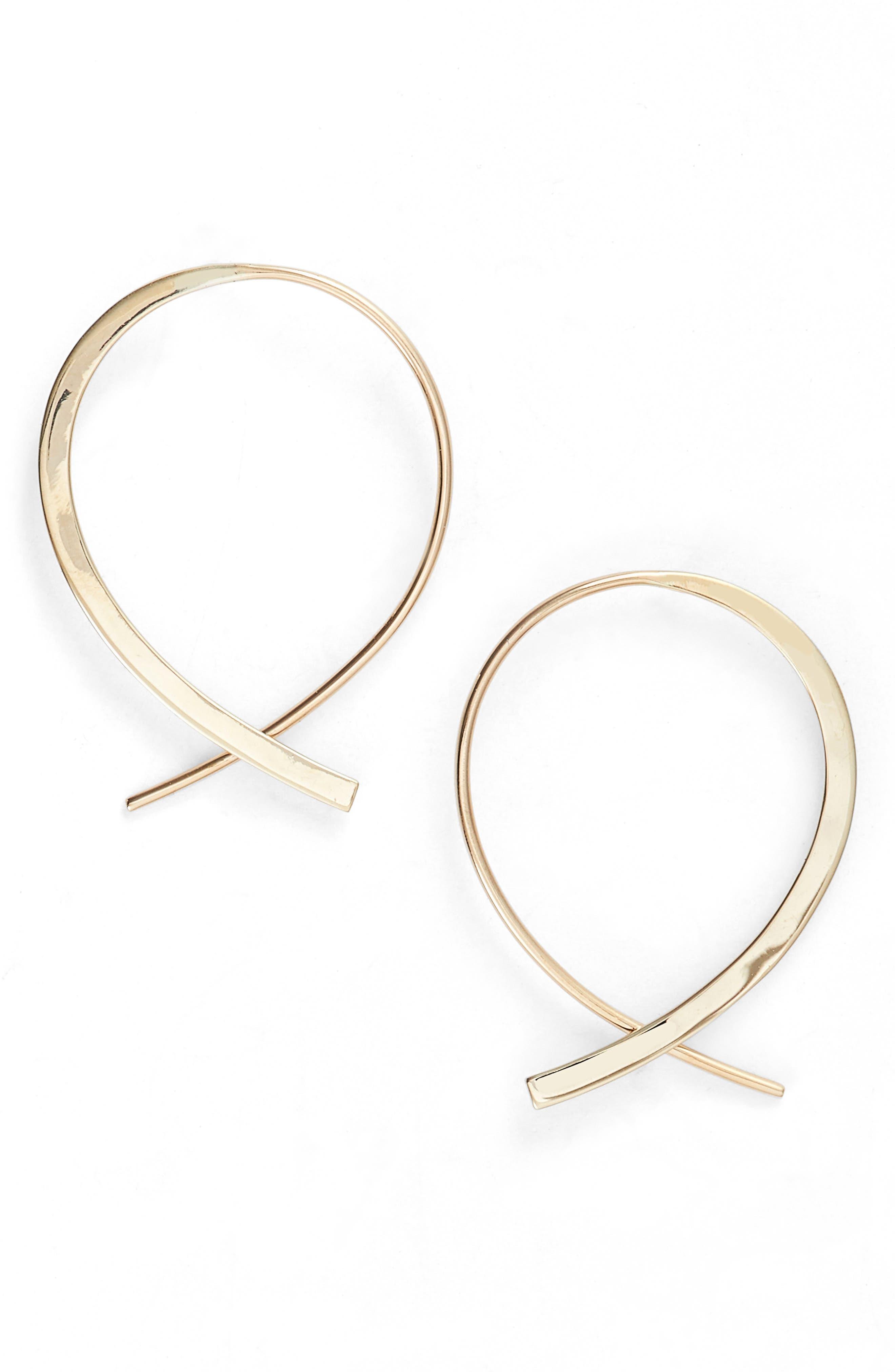 Lana Jewelry Small Frontal Upside Down Hoop Earrings