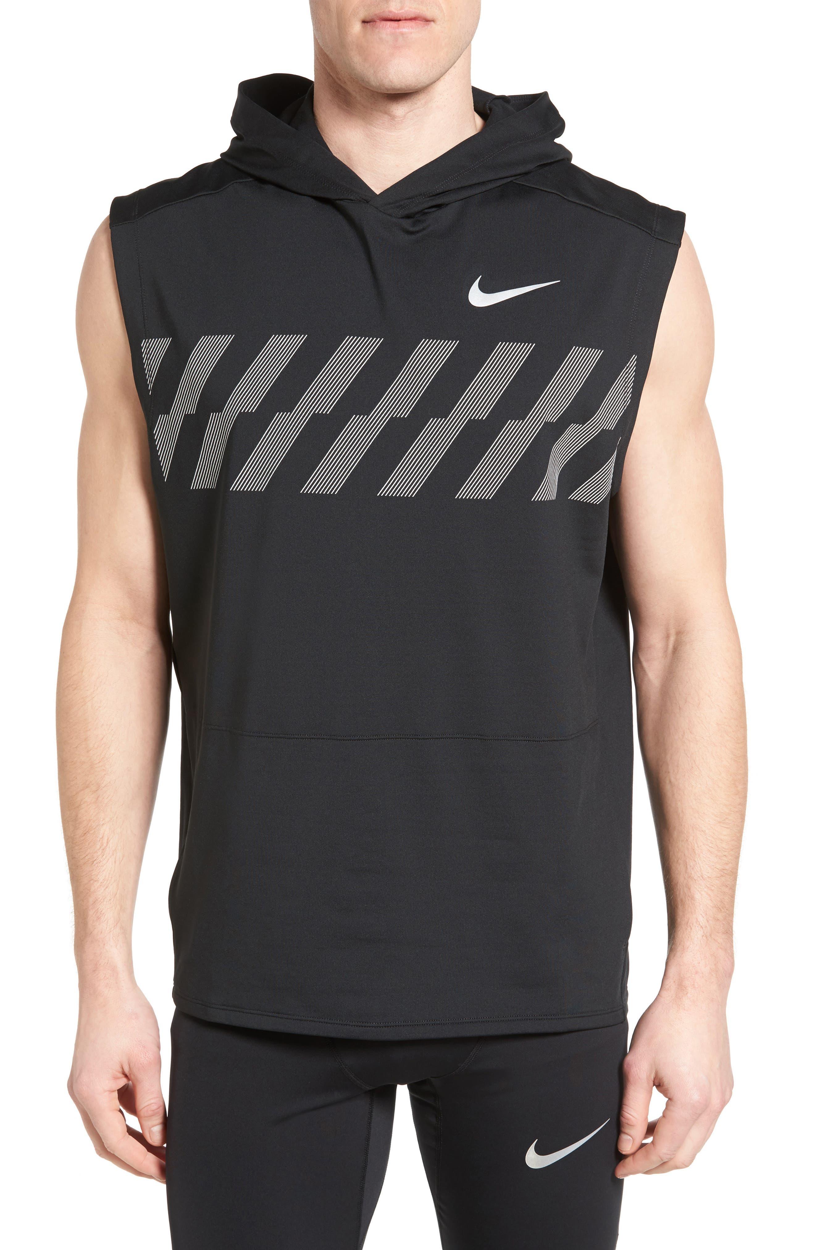 Alternate Image 1 Selected - Nike Sleeveless Running Hoodie