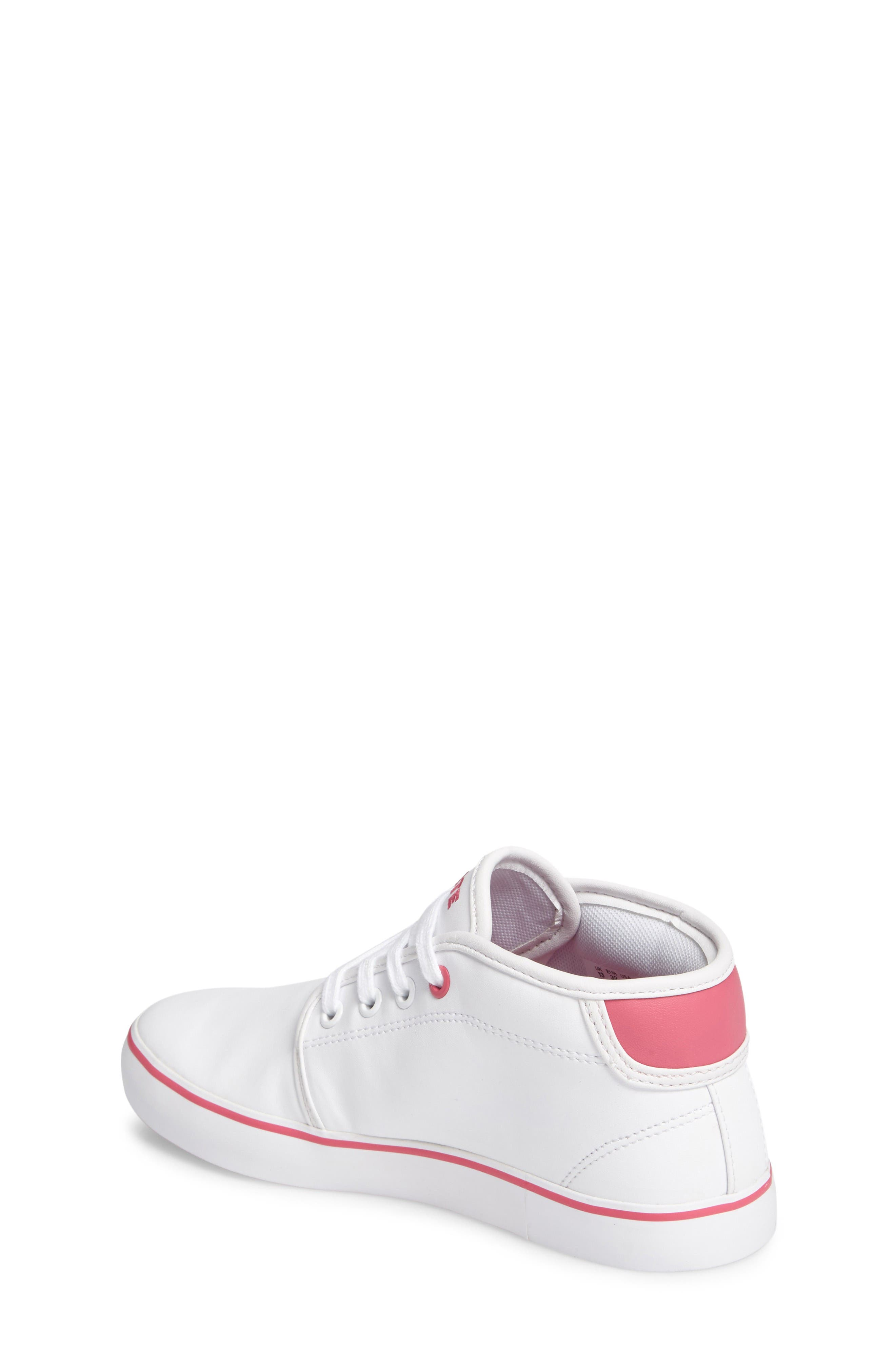 Ampthill Mid-Top Sneaker,                             Alternate thumbnail 2, color,                             White/ Pink