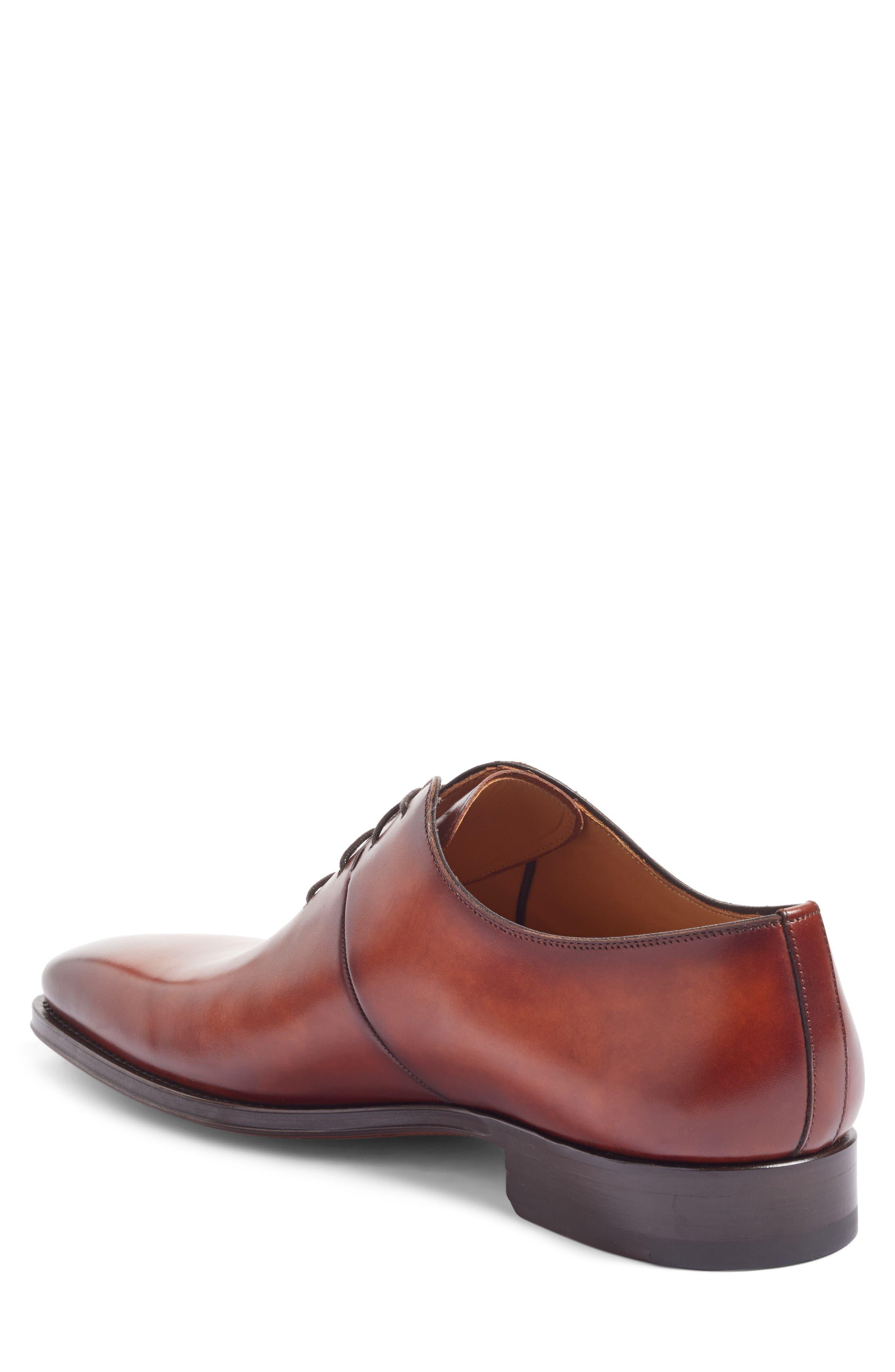 Cornado Plain Toe Oxford,                             Alternate thumbnail 2, color,                             Cognac Leather