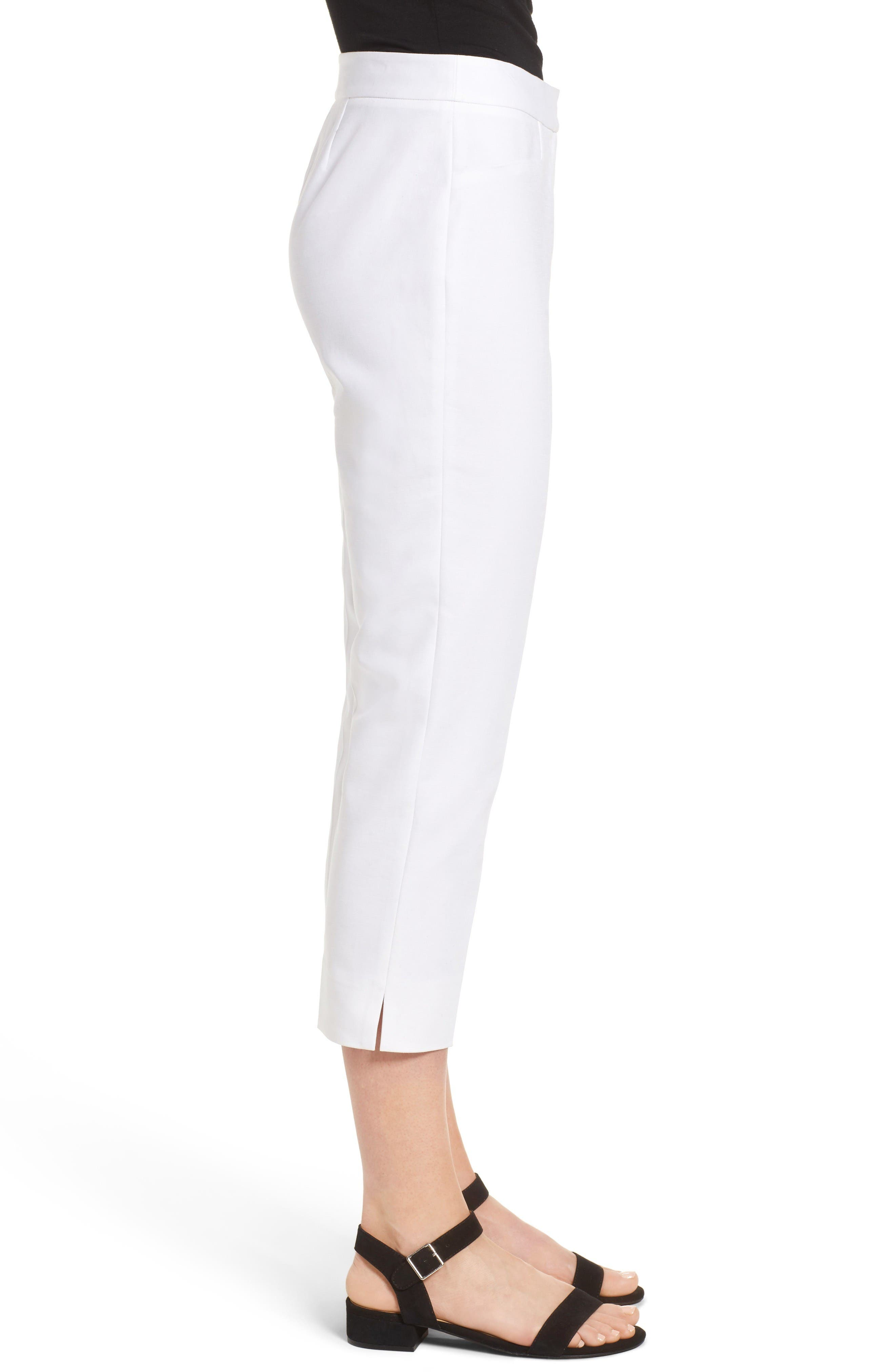 Crop Pants,                             Alternate thumbnail 3, color,                             New Ivory