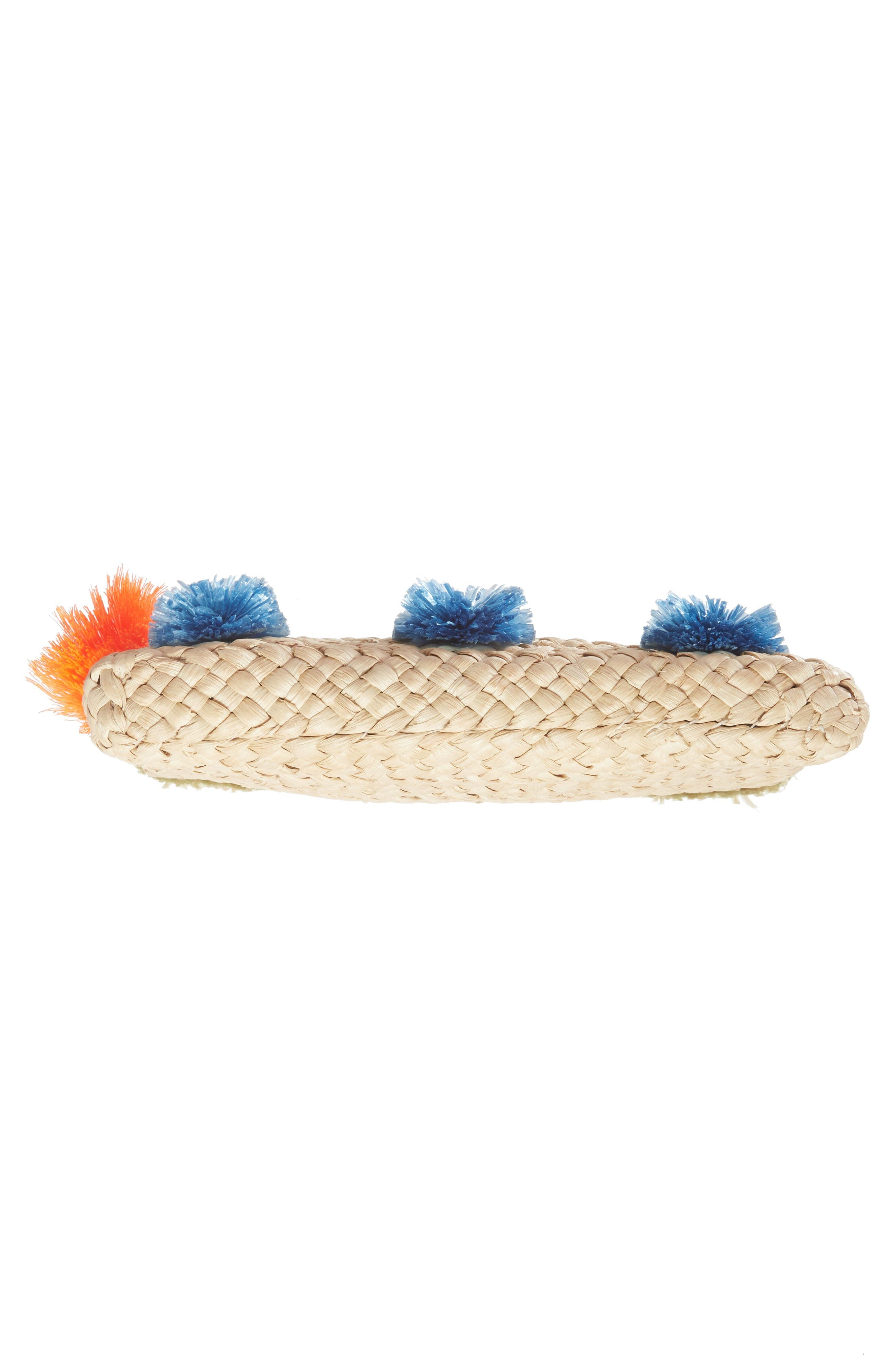 Alternate Image 6  - Milly Pompom Straw Clutch