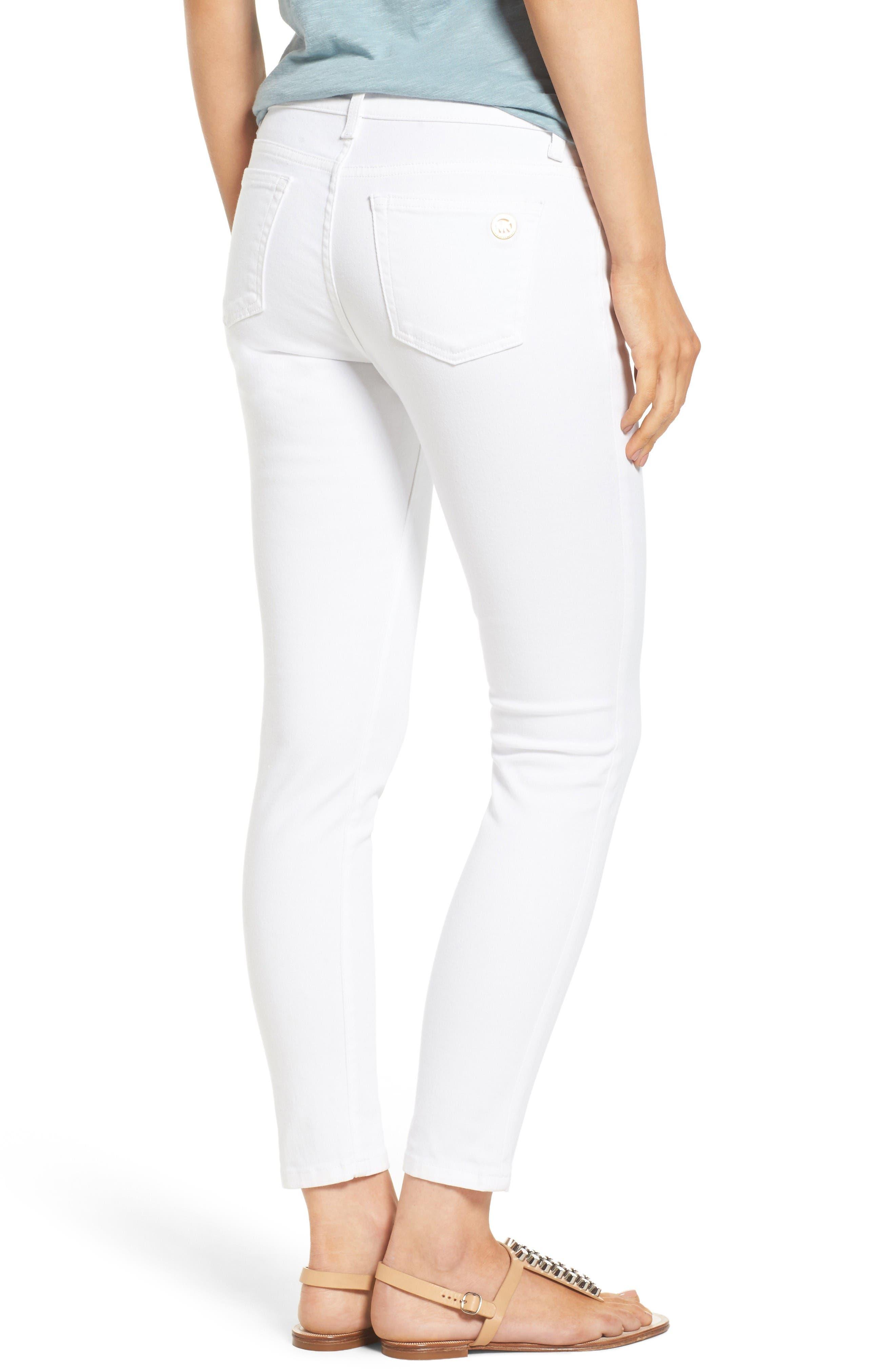 Izzy Ankle Skinny Jeans,                             Alternate thumbnail 2, color,                             White