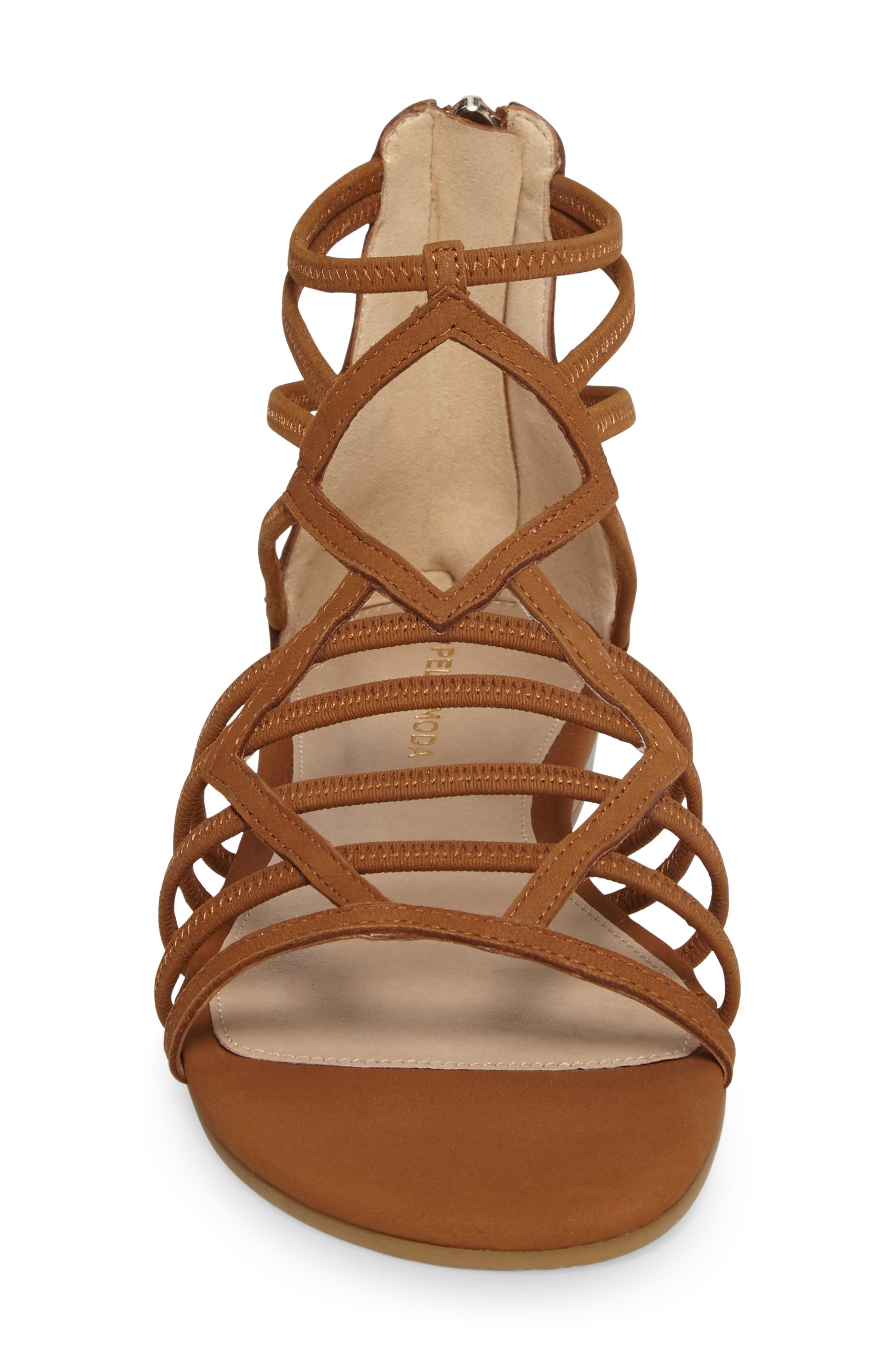 Brazil Strappy Sandal,                             Alternate thumbnail 4, color,                             Luggage Leather