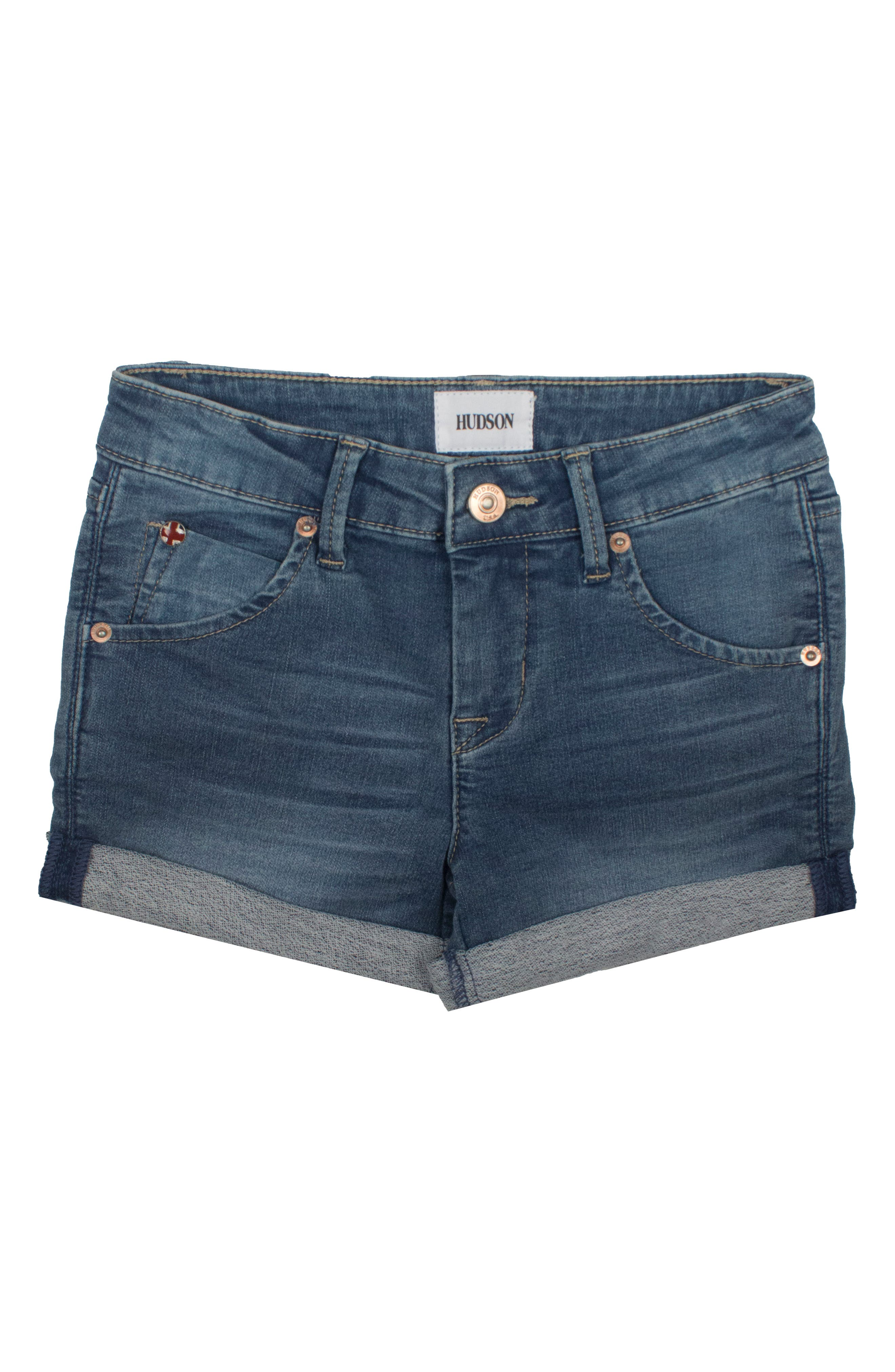 Hudson Kids Collin Roll Cuff Denim Shorts (Toddler Girls & Little Girls)