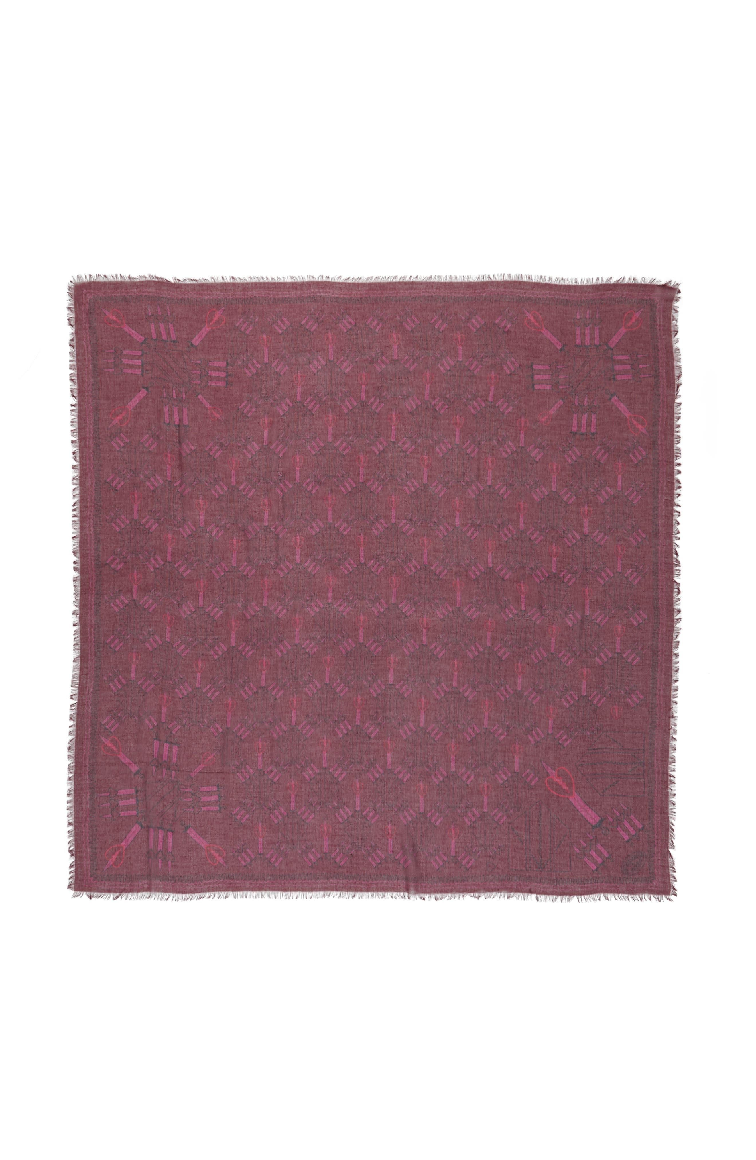 Loveblade Modal & Cashmere Scarf,                         Main,                         color, Crimson