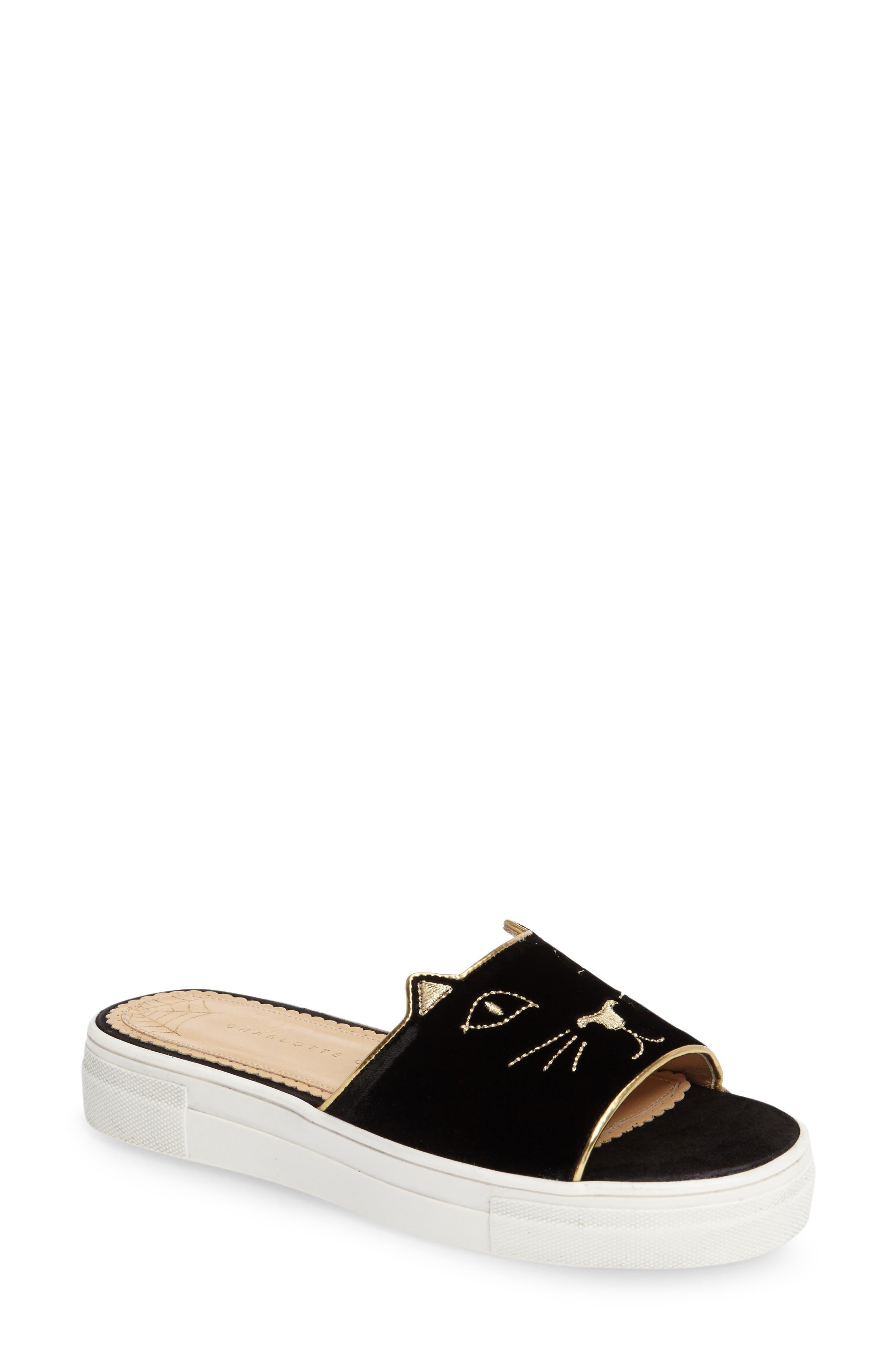 Alternate Image 1 Selected - Charlotte Olympia Kitty Slide Sandal (Women)