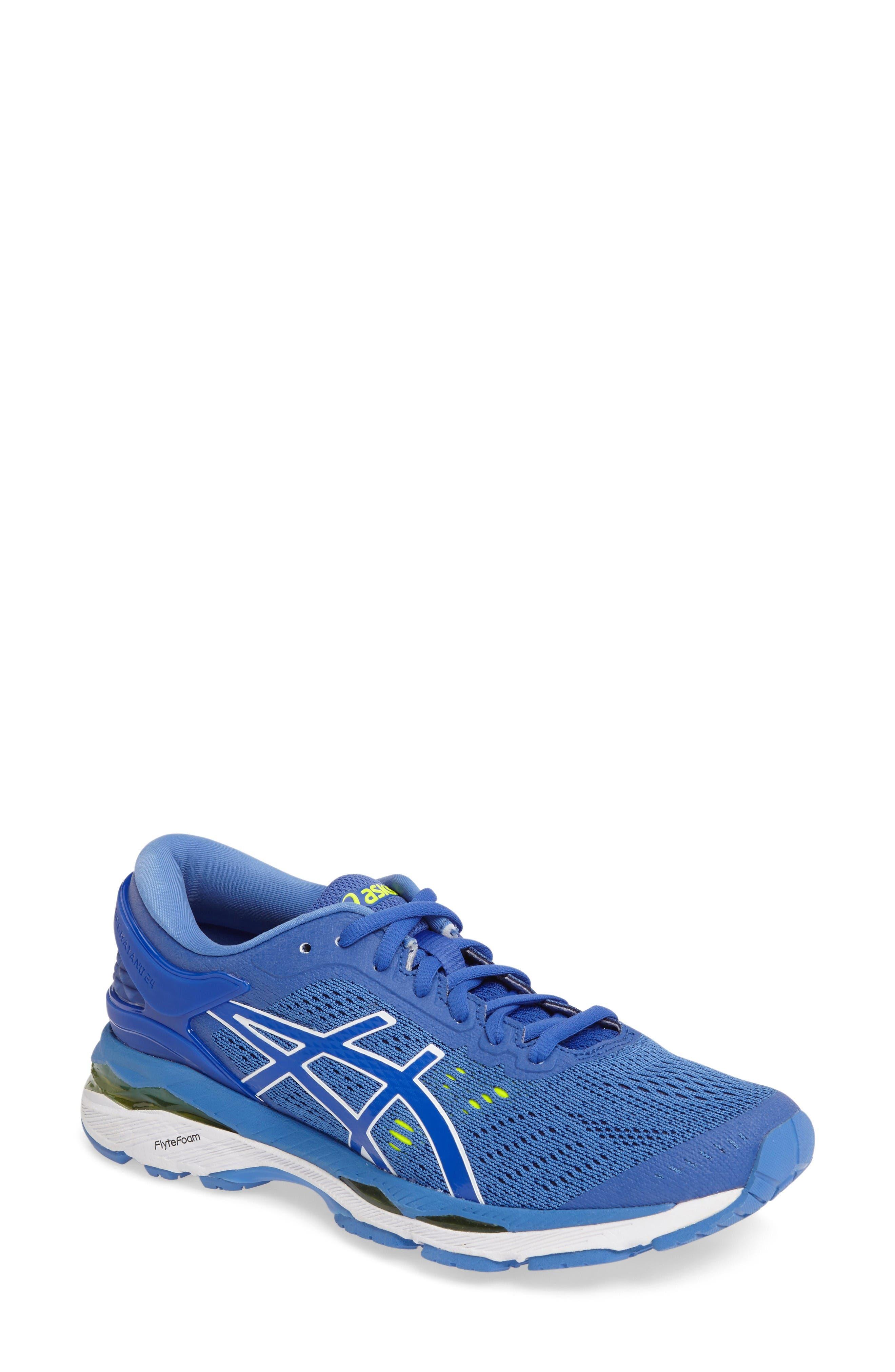 GEL-Kayano<sup>®</sup> 24 Running Shoe,                         Main,                         color, Blue Purple/ Regatta/ White