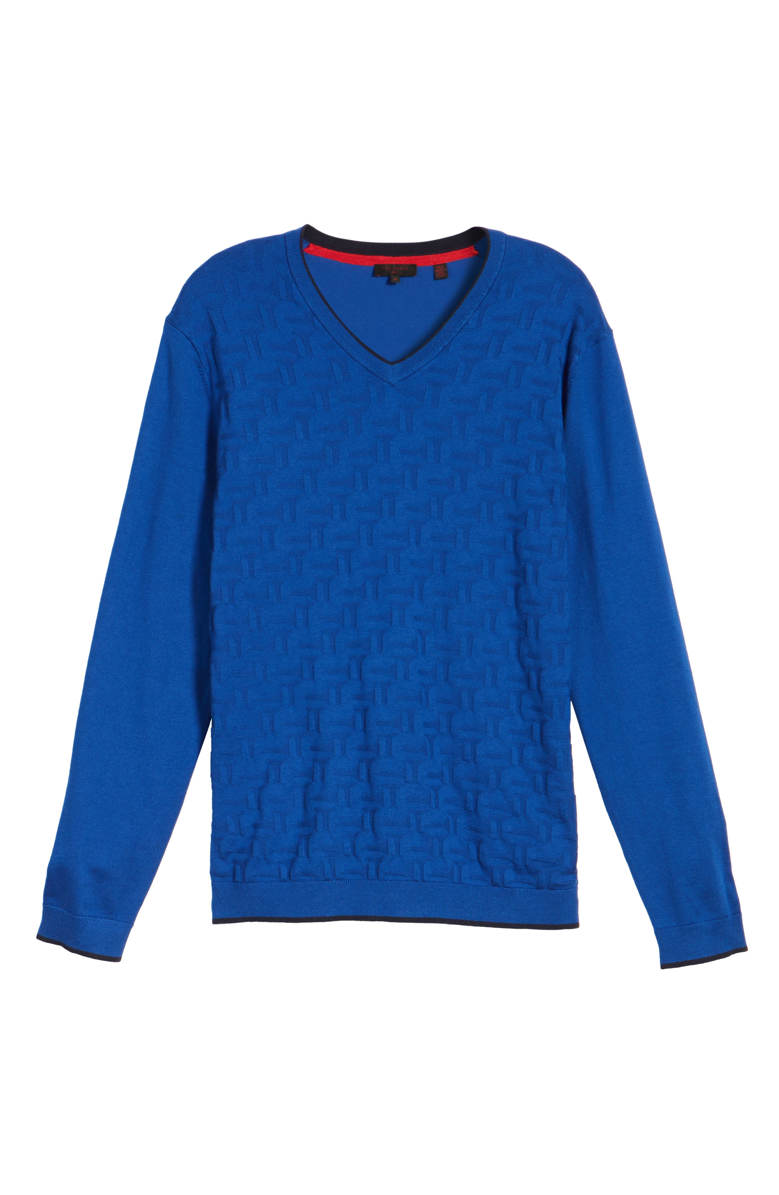 Armstro Tipped Golf Tee Sweater,                             Alternate thumbnail 5, color,                             Blue
